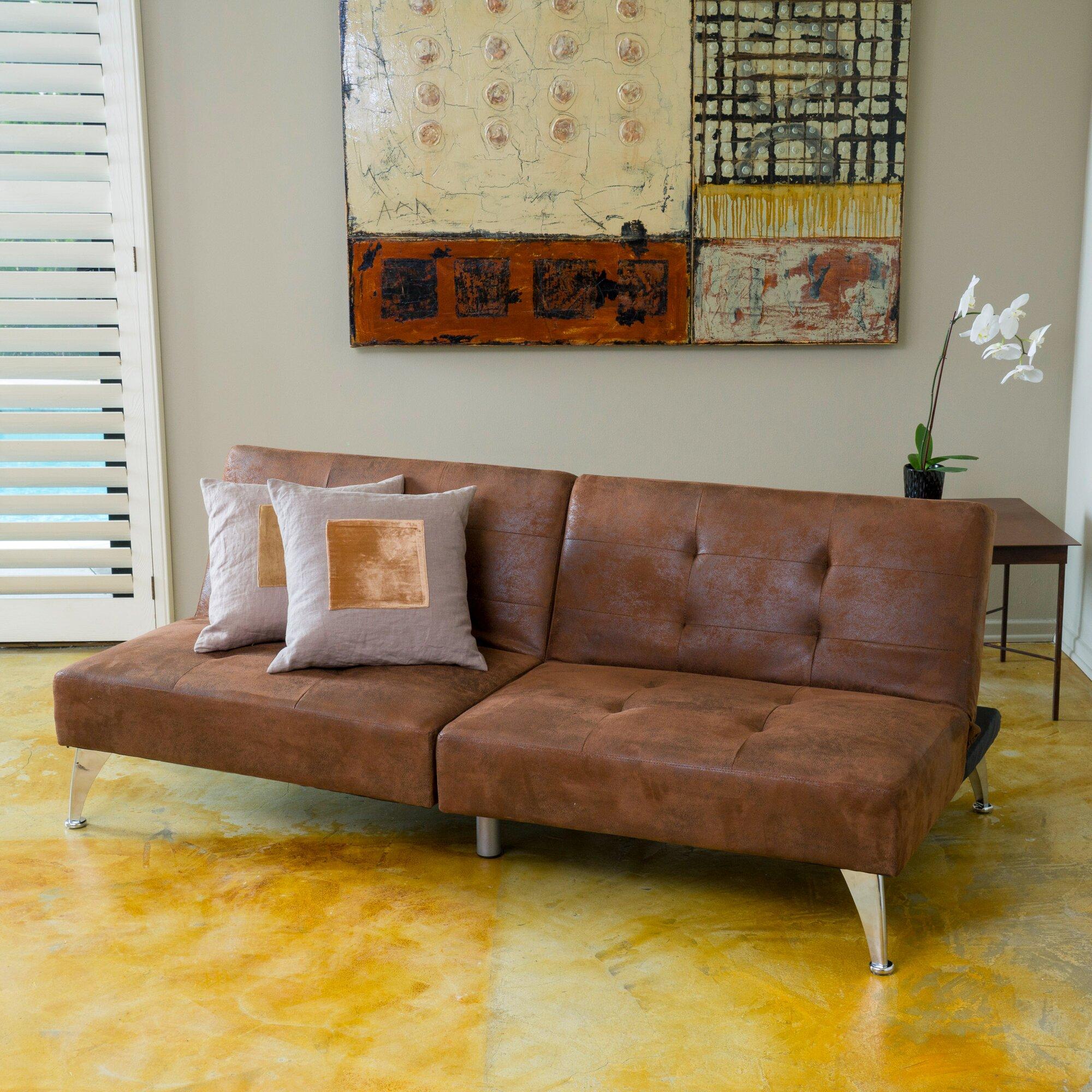 awesome zen modern florida collection sleeper sectional sofa