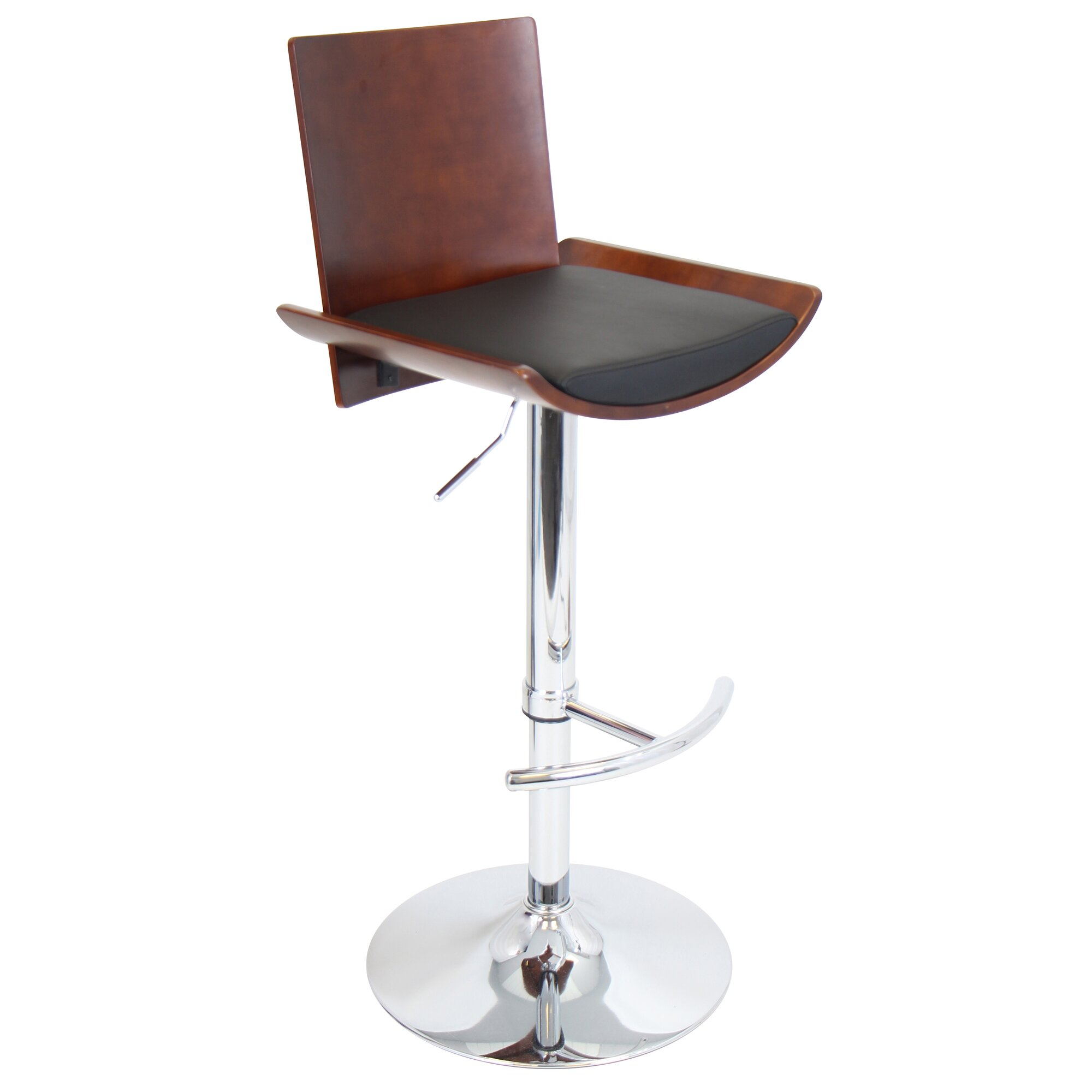 Lumisource Vittorio Adjustable Height Swivel Bar Stool