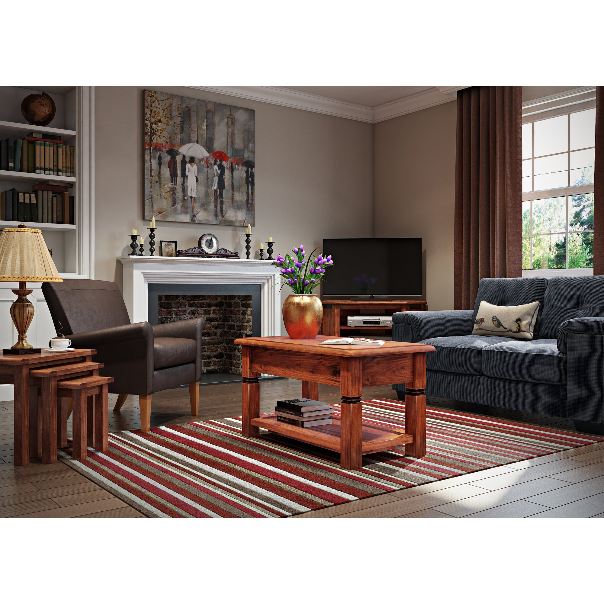 classicliving leinwandbild new york in the rain. Black Bedroom Furniture Sets. Home Design Ideas