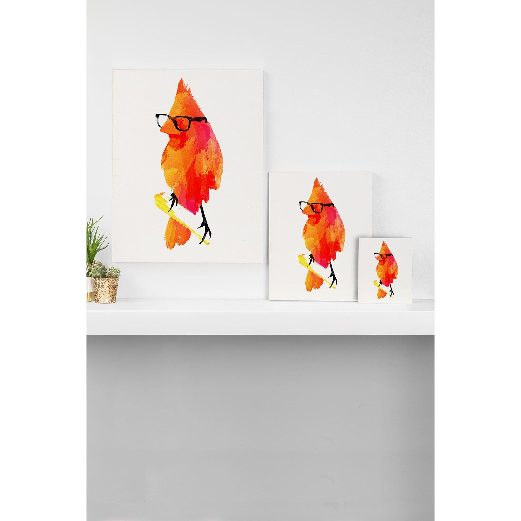 Mercury Row Punk Bird Graphic Art On Wrapped Canvas