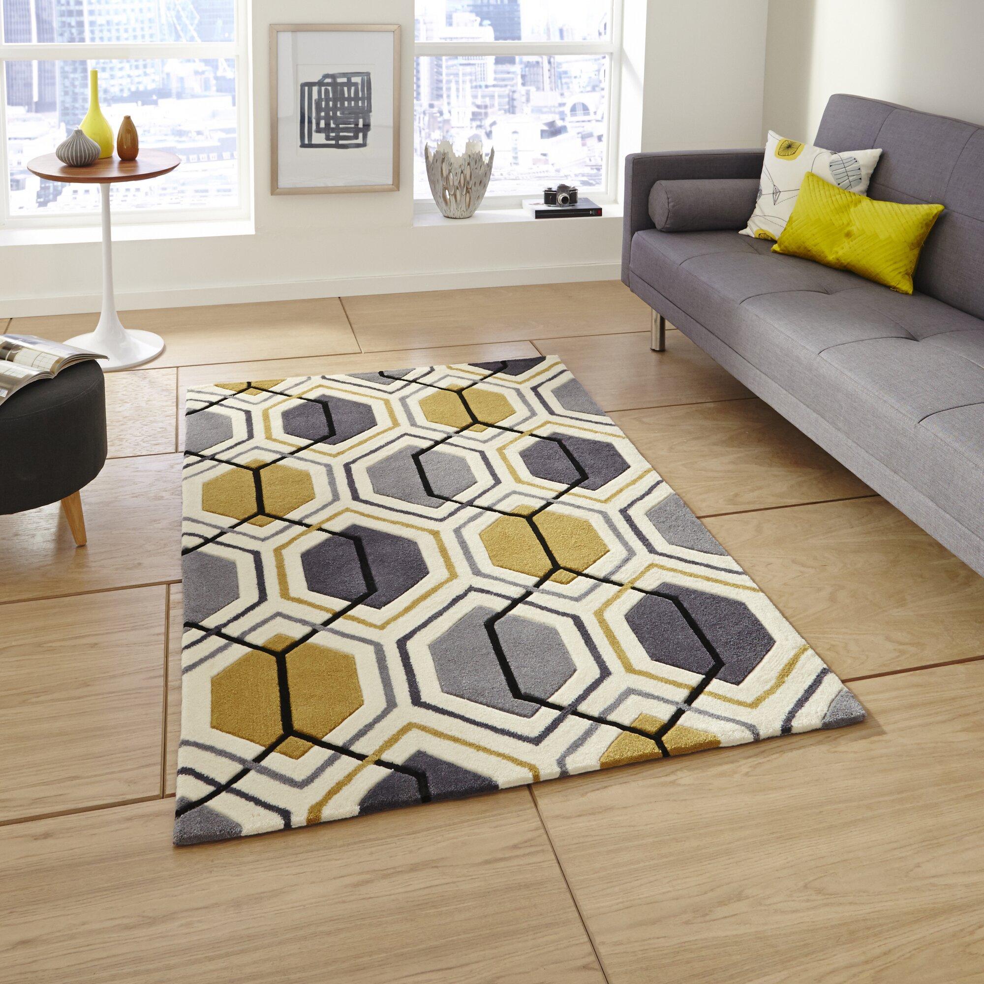 scanmod design handgetufteter teppich tamarisk in grau gelb bewertungen. Black Bedroom Furniture Sets. Home Design Ideas