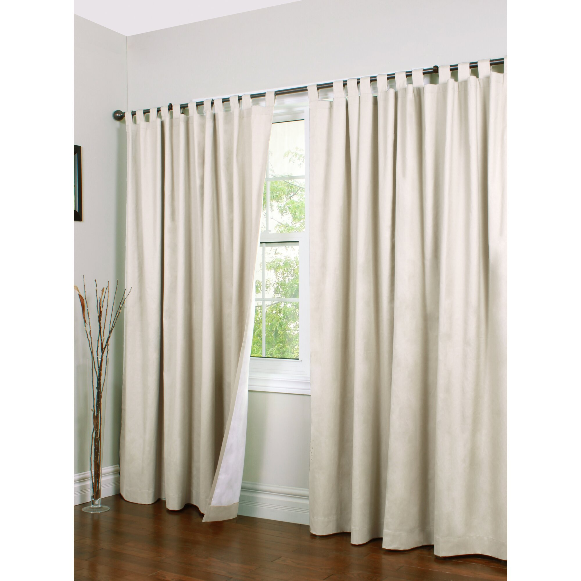 How to make tab top curtains - Alcott Hill Ranger Solid Semi Sheer Thermal Tab Top Curtain Panels