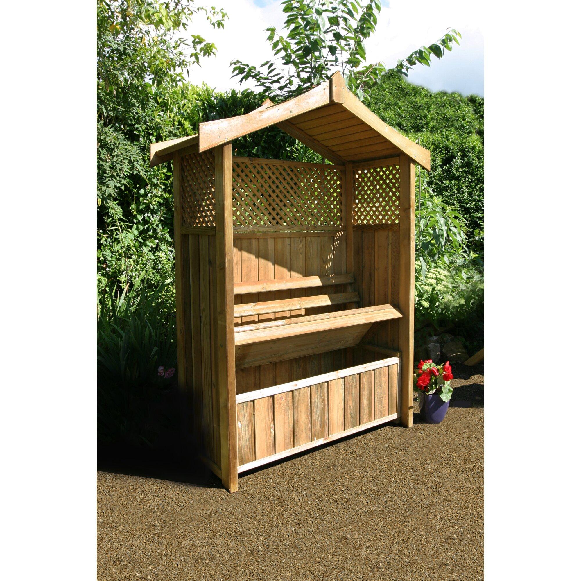 zest 4 leisure rosenbogen dorset mit banktruhe aus holz. Black Bedroom Furniture Sets. Home Design Ideas