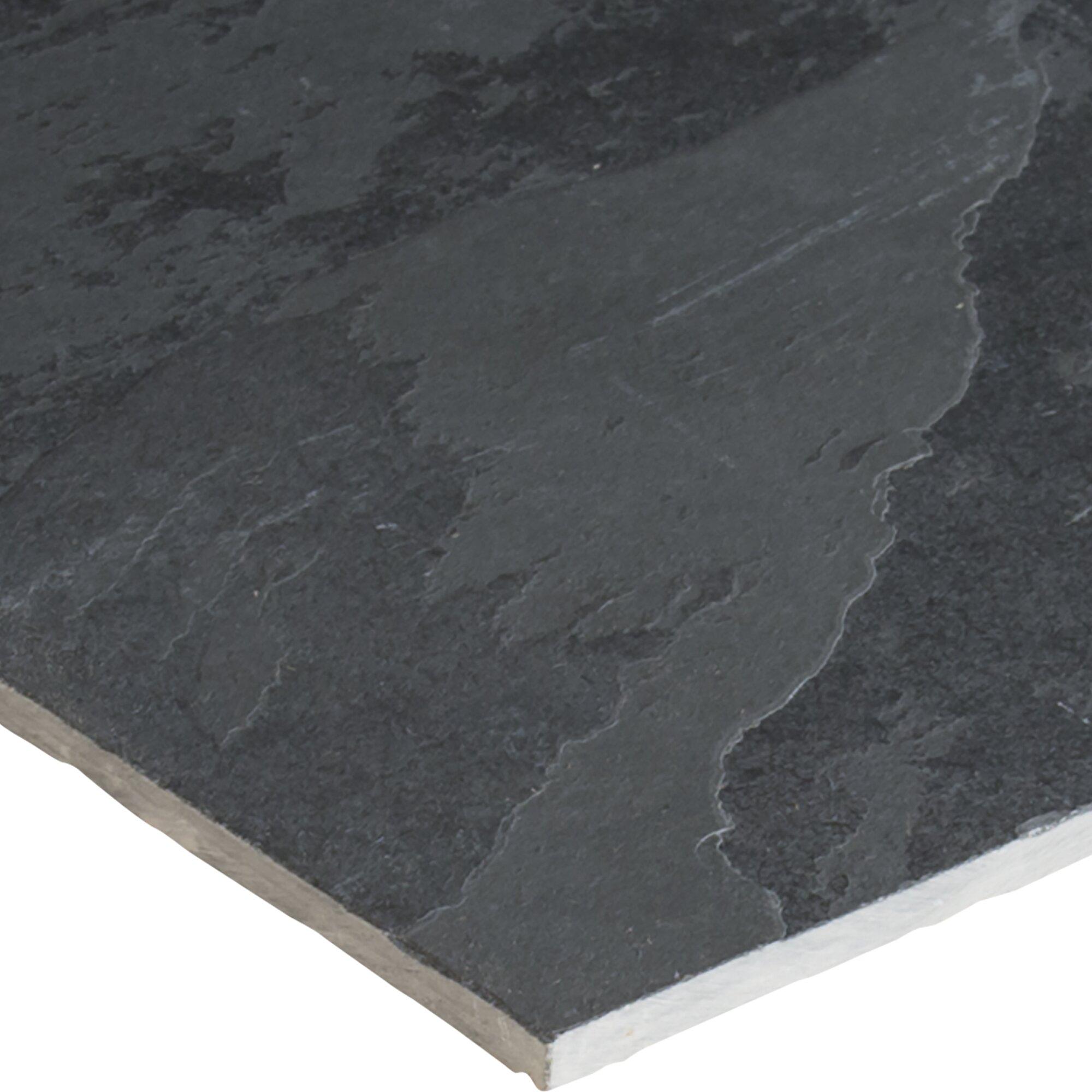 Msi Montauk 16 X 16 Slate Field Tile In Black