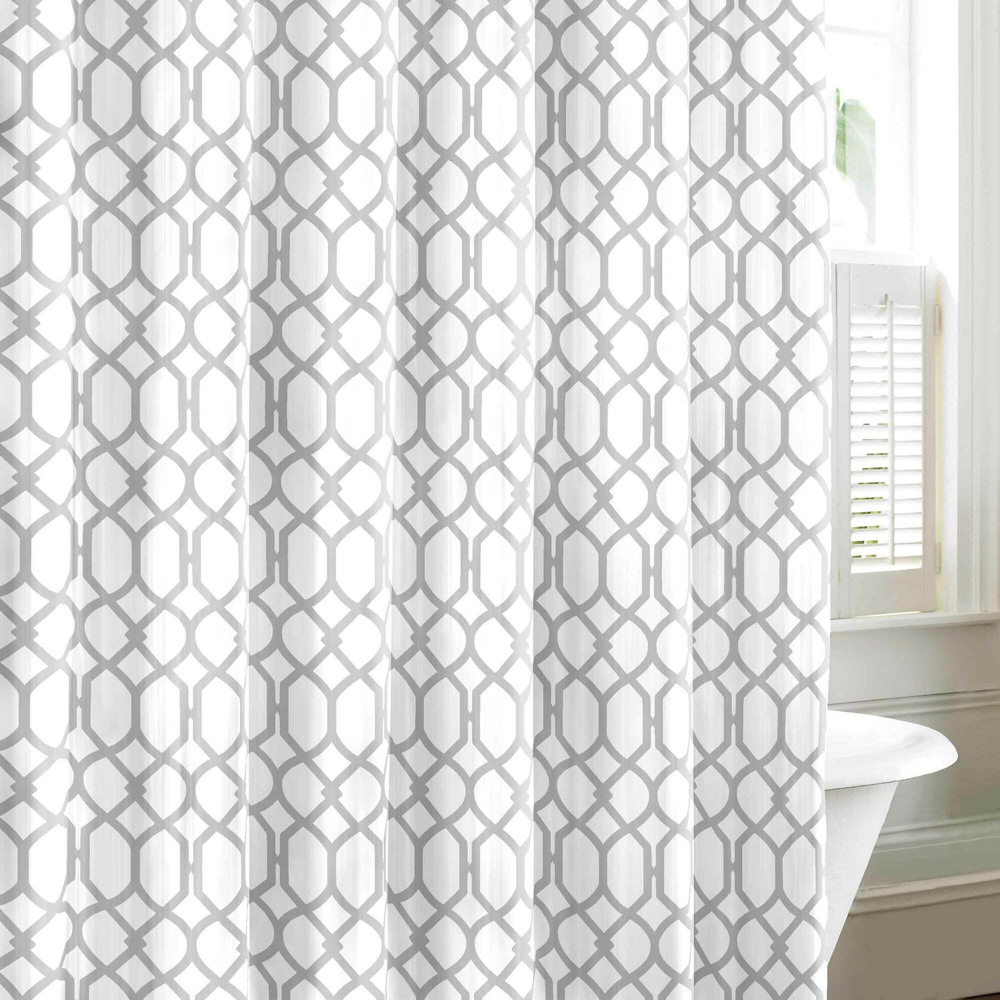 Bamboo shower curtain - Shoreline Trellis Cotton Shower Curtain By Tommy Bahama Bedding