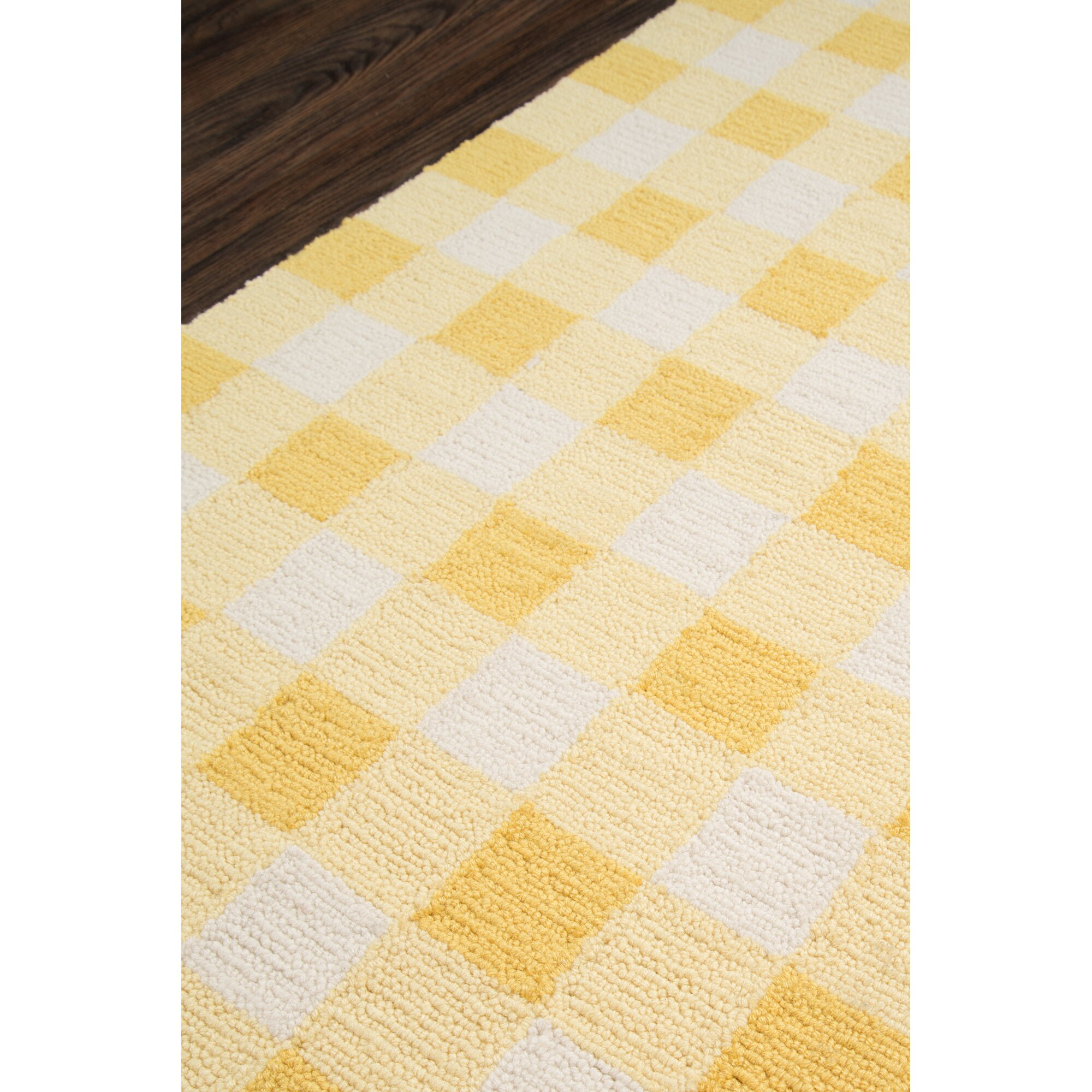 august grove violet hand woven yellow white area rug reviews. Black Bedroom Furniture Sets. Home Design Ideas