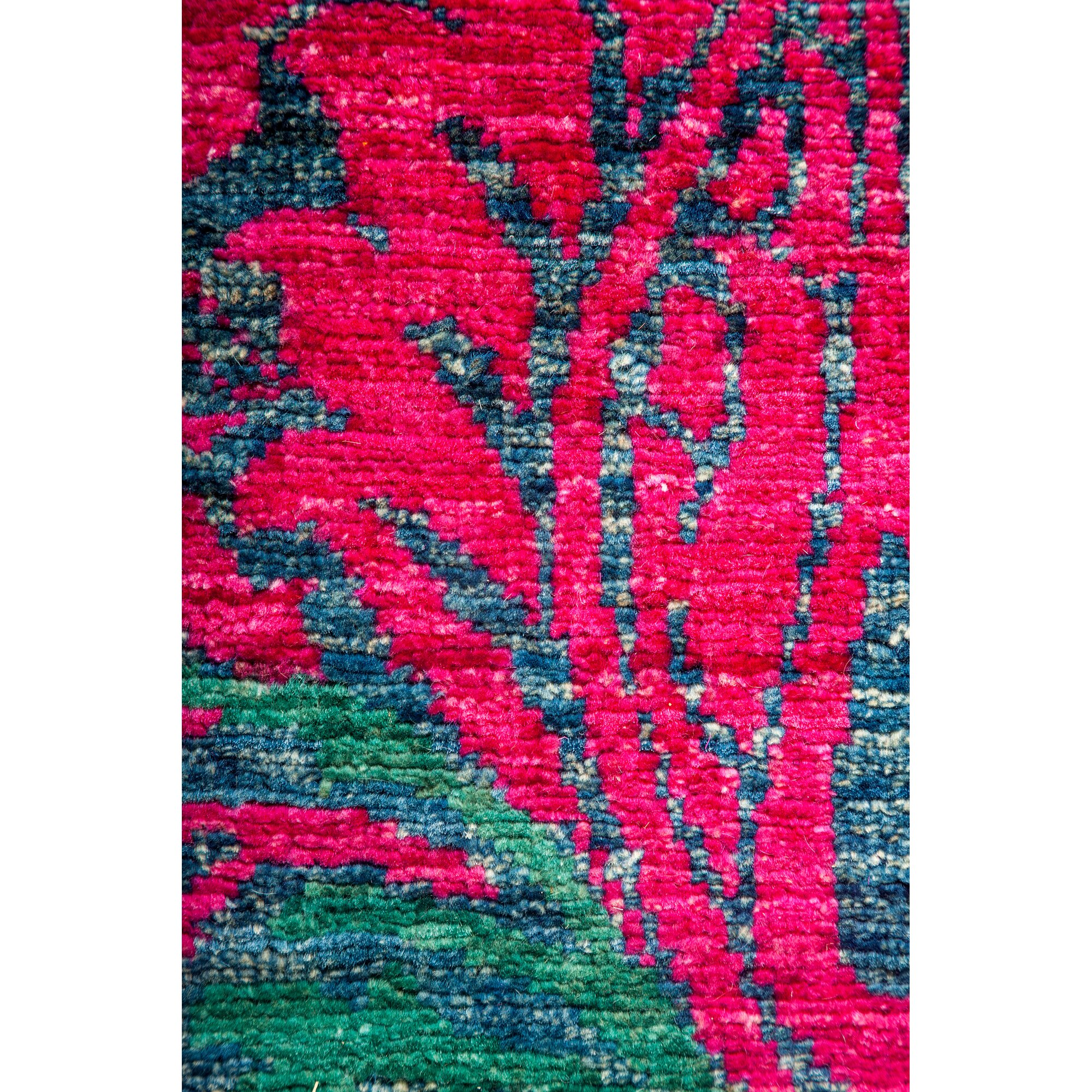 darya rugs arts and crafts hand knotted pink blue area rug. Black Bedroom Furniture Sets. Home Design Ideas