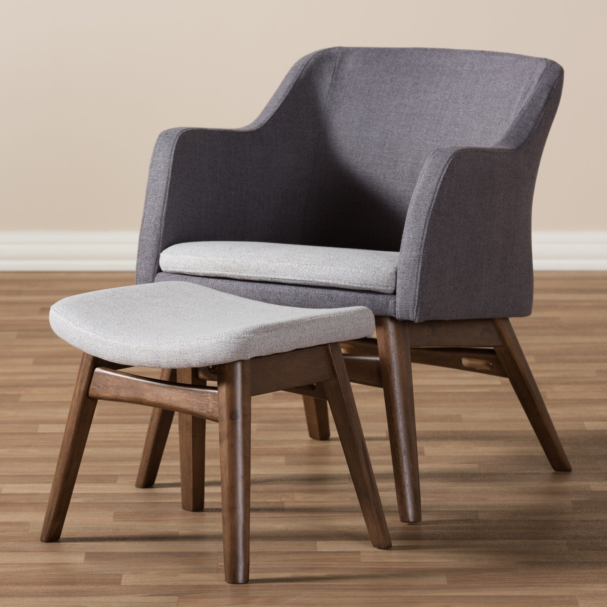 Wholesale interiors victoria mid century modern lounge chair and ottoman reviews wayfair - Mid century modern chair and ottoman ...