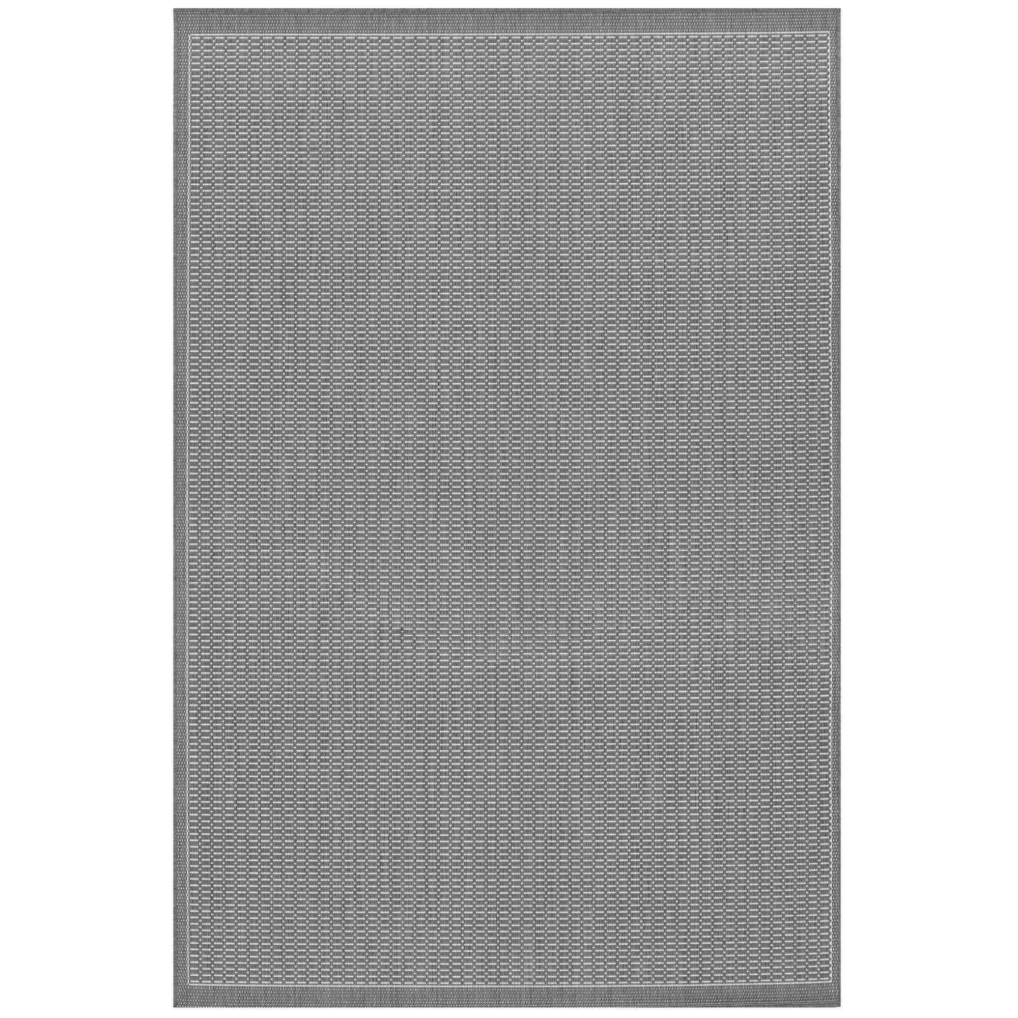 Ariadne Saddle Stitch Gray Indoor/Outdoor Area Rug & Reviews ...