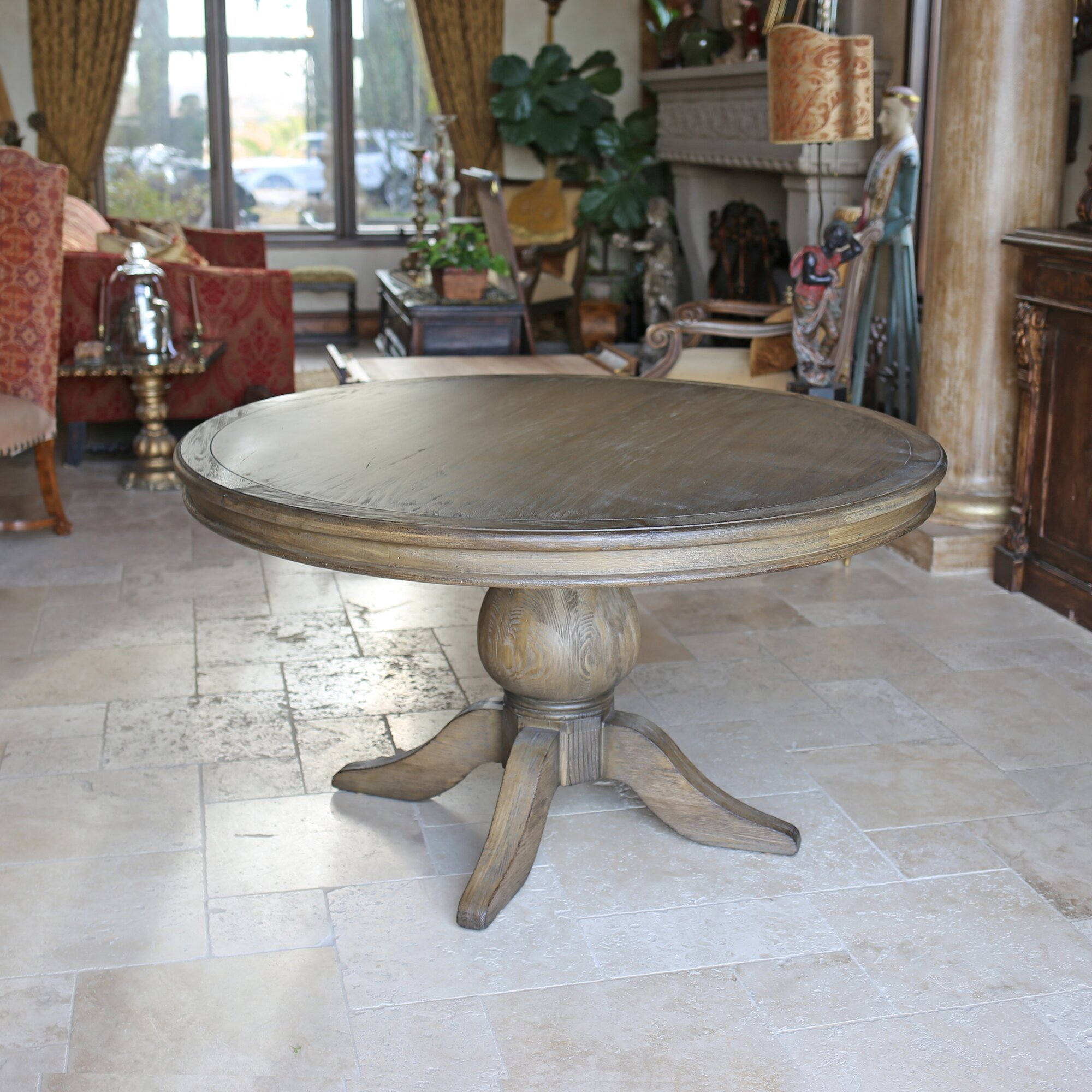Reclaimed wood round dining table - Reclaimed Wood Dining Table Round