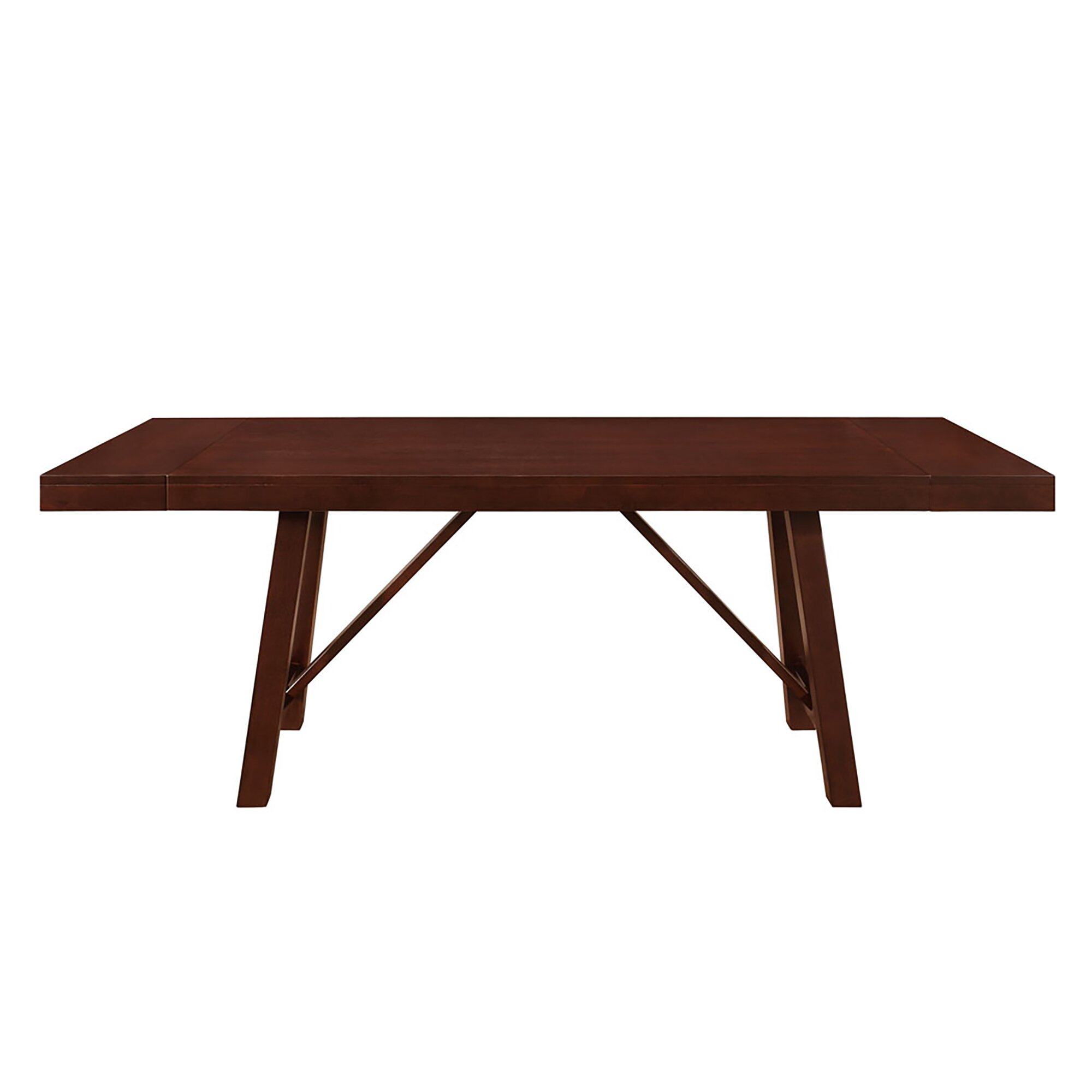 solid wood trestle extendable dining table reviews