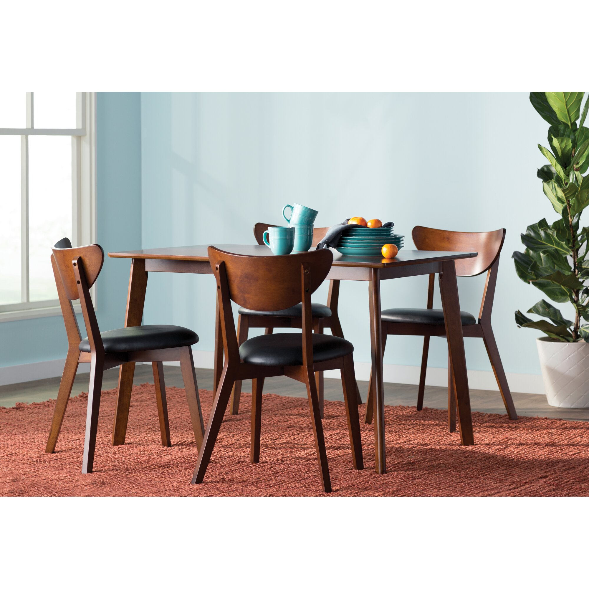 Wholesale Interiors Baxton Studio Sumner 5 Piece Dining Set ...