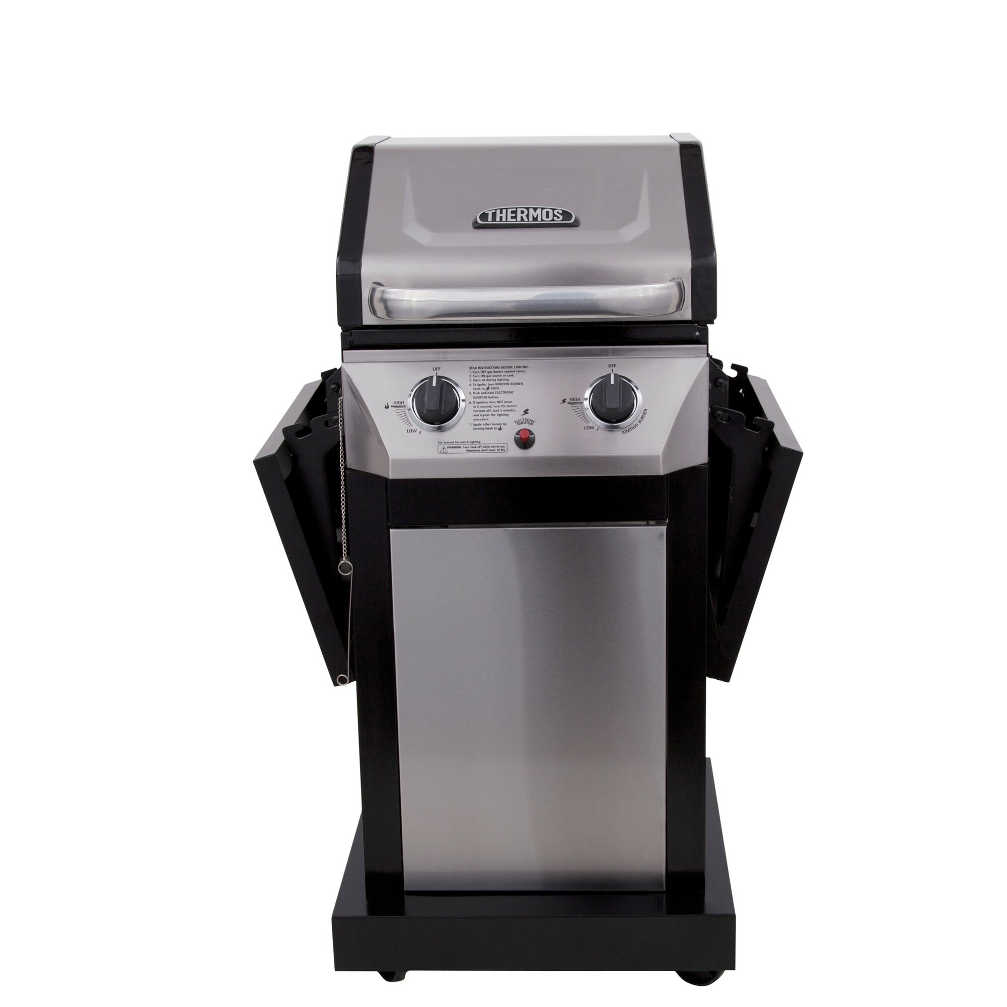 CharBroil Thermos 2-Burner Propane Gas Grill with Cabinet ...