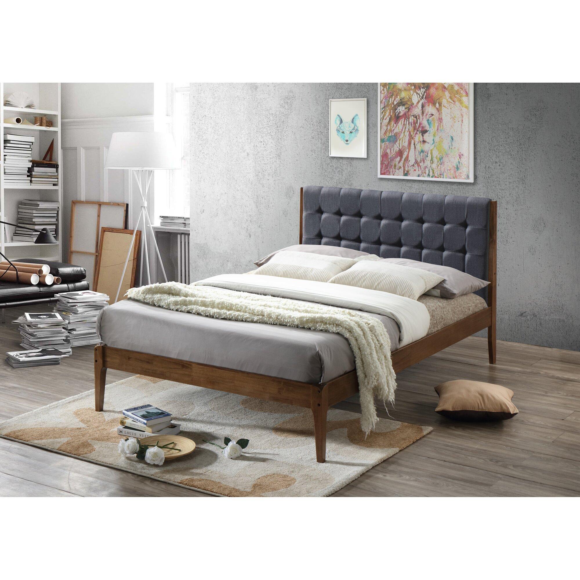 baxton studio clemente wood platform bed