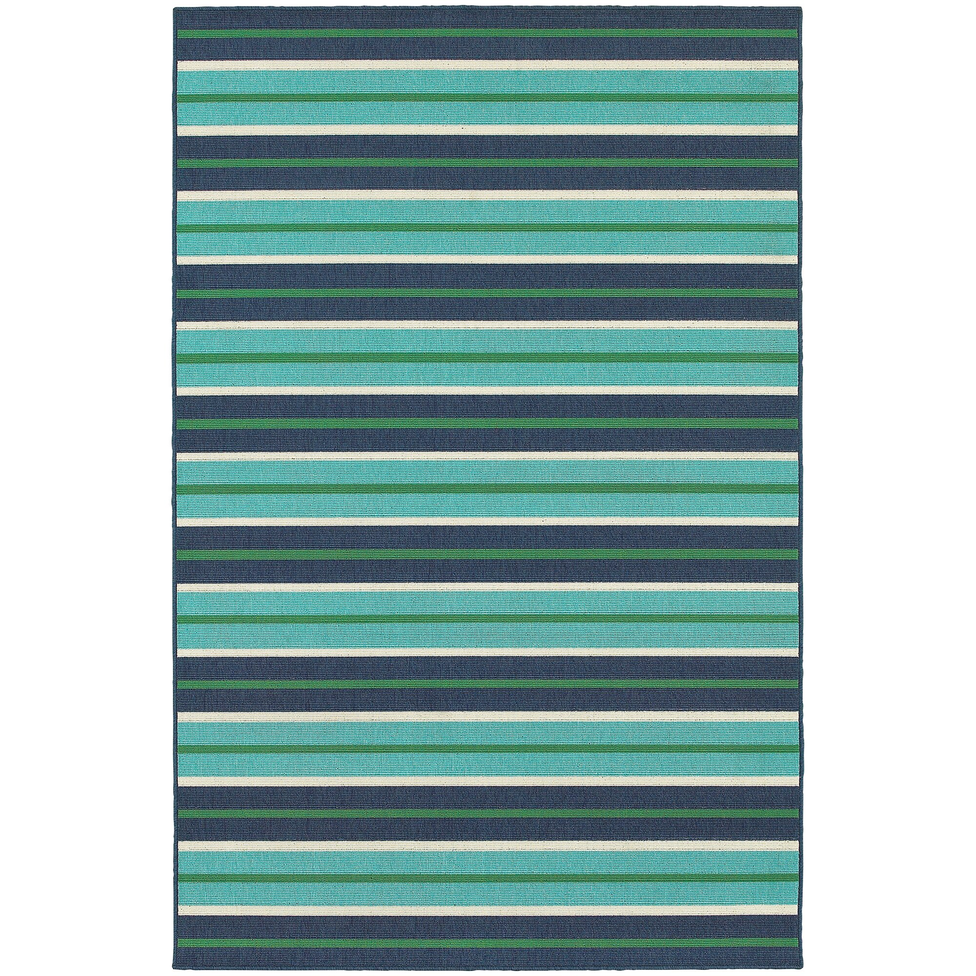 Threadbind Cortlandt Blue Green Indoor Outdoor Area Rug