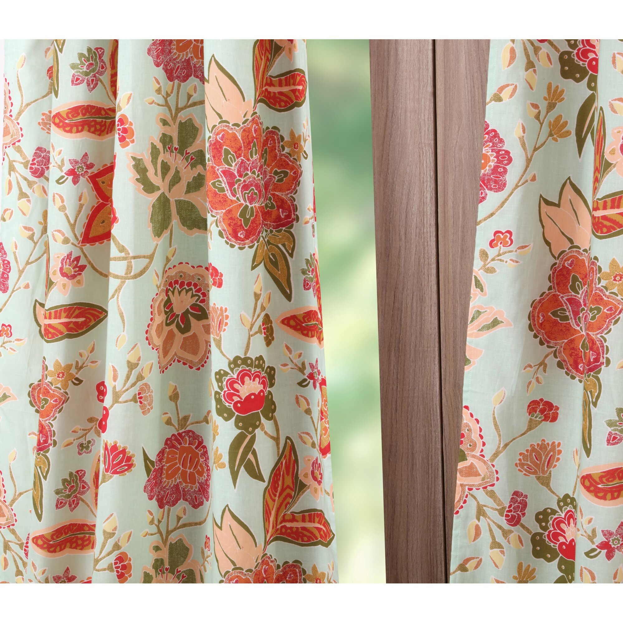 Floral Curtain Panels