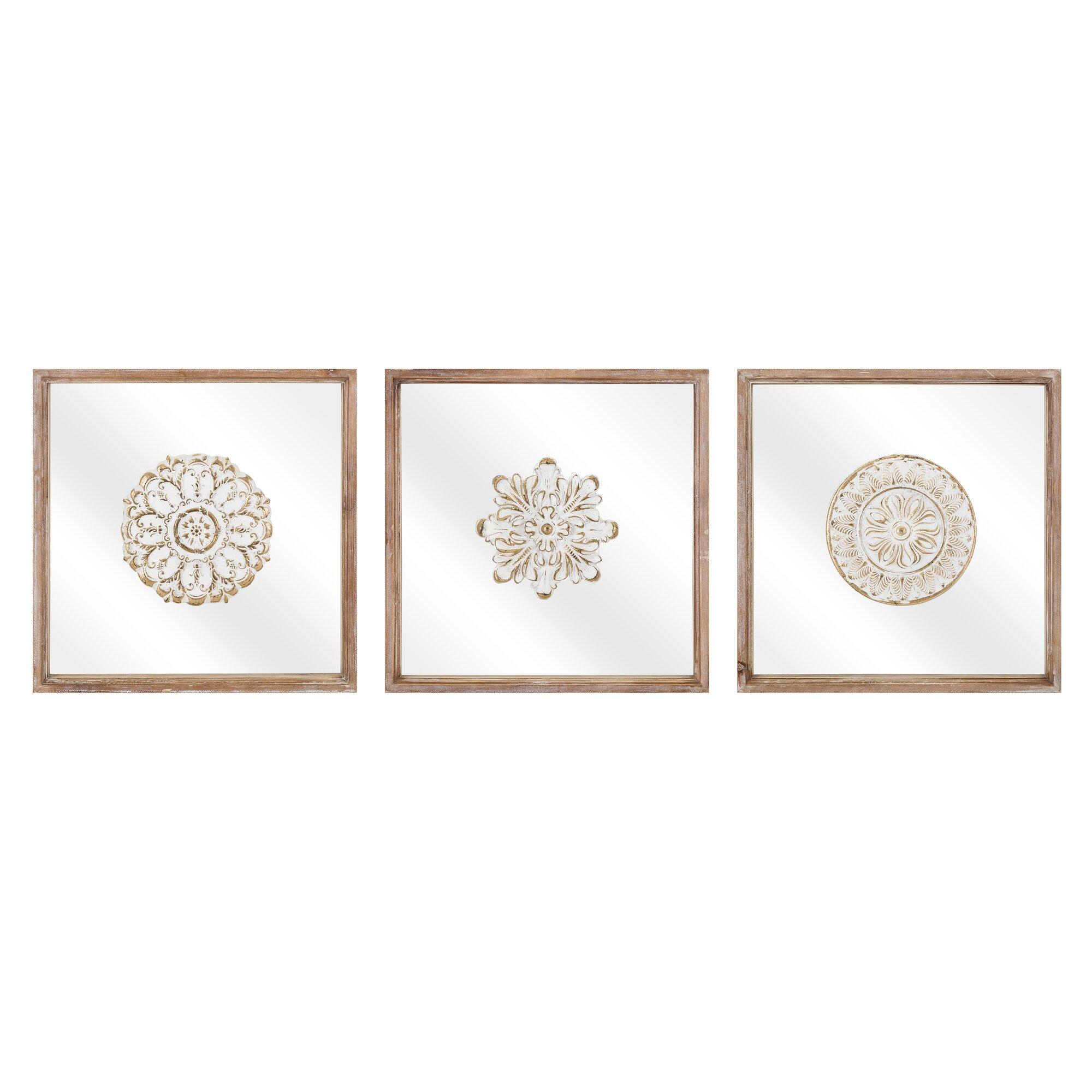 3 Piece Utensil Wall Décor Set : Bungalow rose piece glass wall decor set reviews