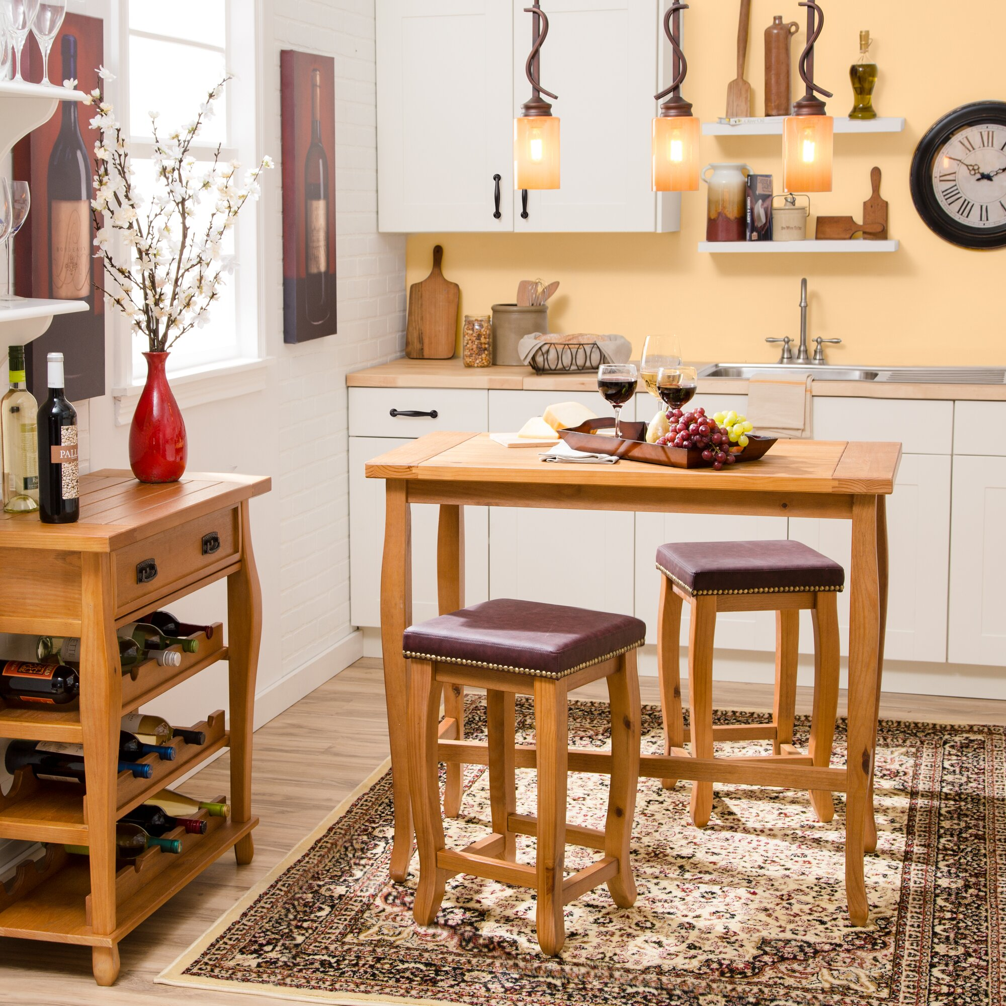 Charlton Home Rectangle Wood Serving Tray & Reviews   Wayfair