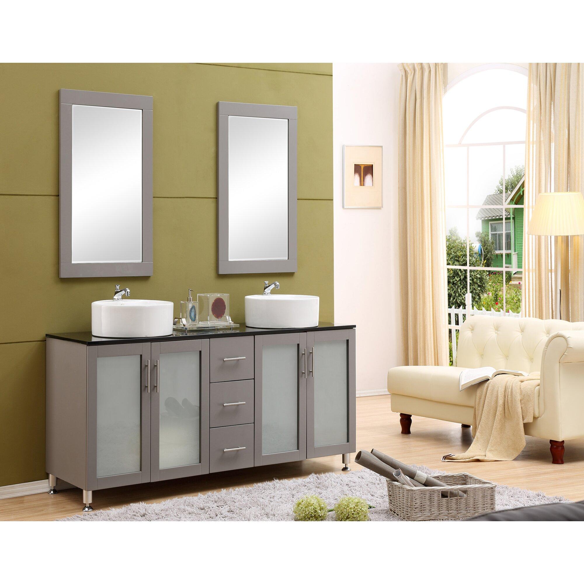 """Brayden Studio Fraher 60"""" Double Bathroom Vanity Set"""