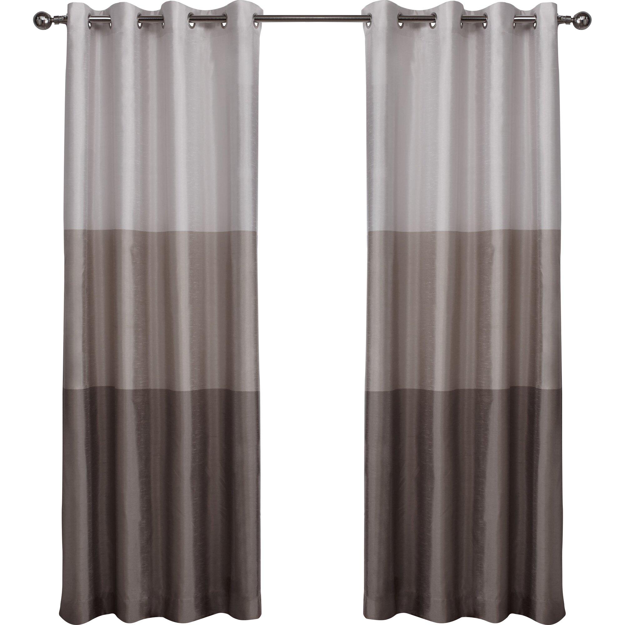 latitude run newton striped semi sheer grommet curtain