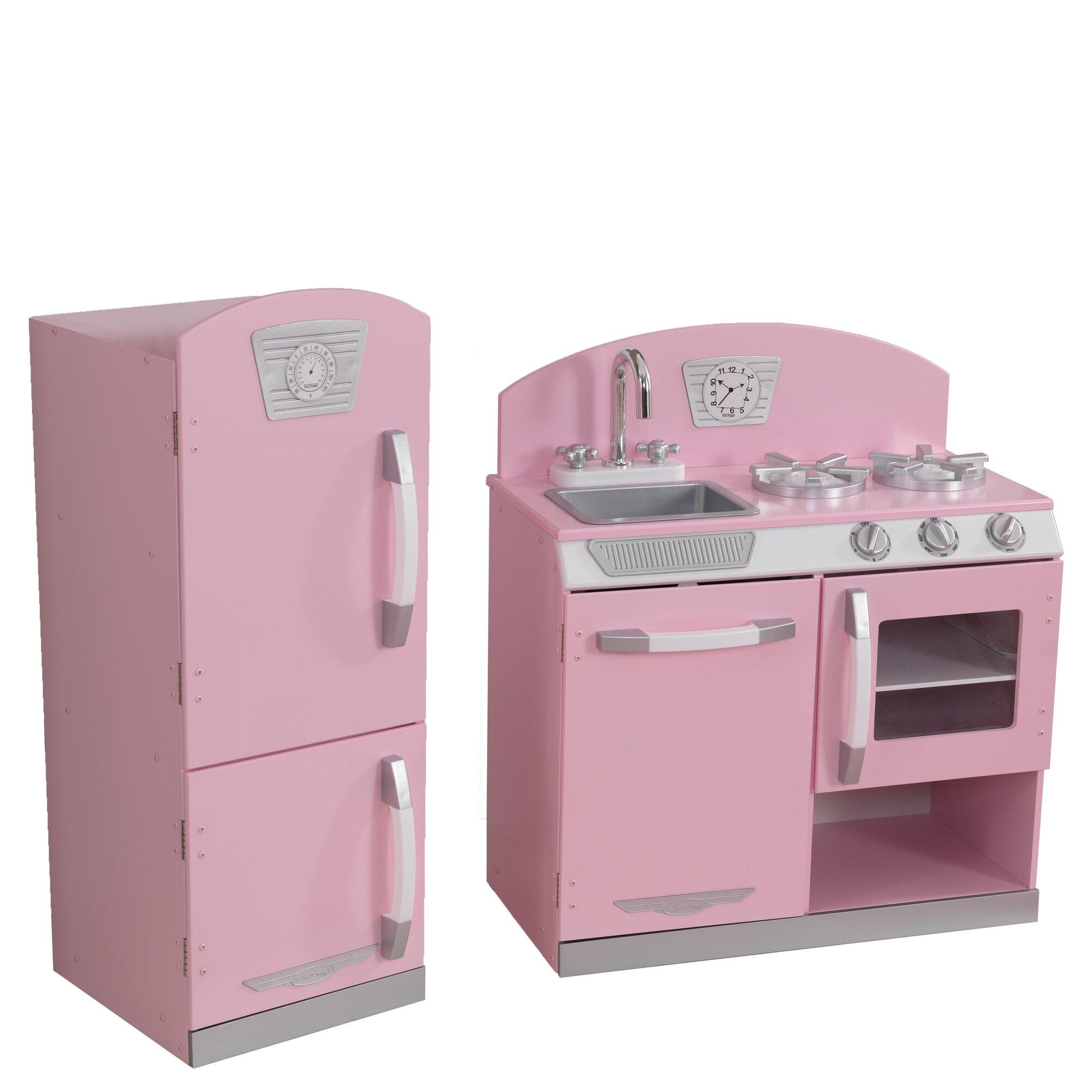 Kidcraft retro kitchen - 2 Piece Retro Kitchen And Refrigerator Set
