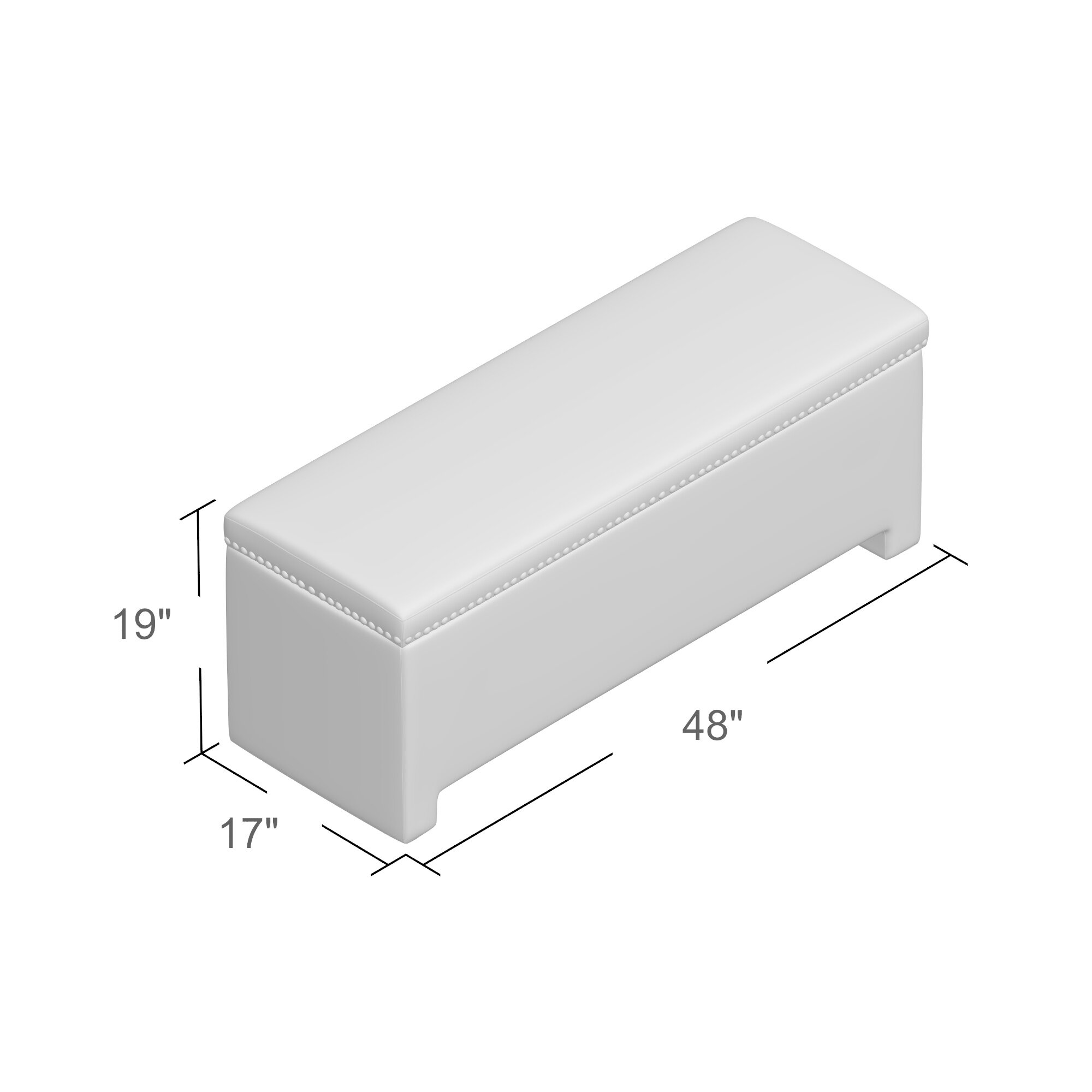 Alcott Hill Cloville Upholstered Storage Bedroom Bench