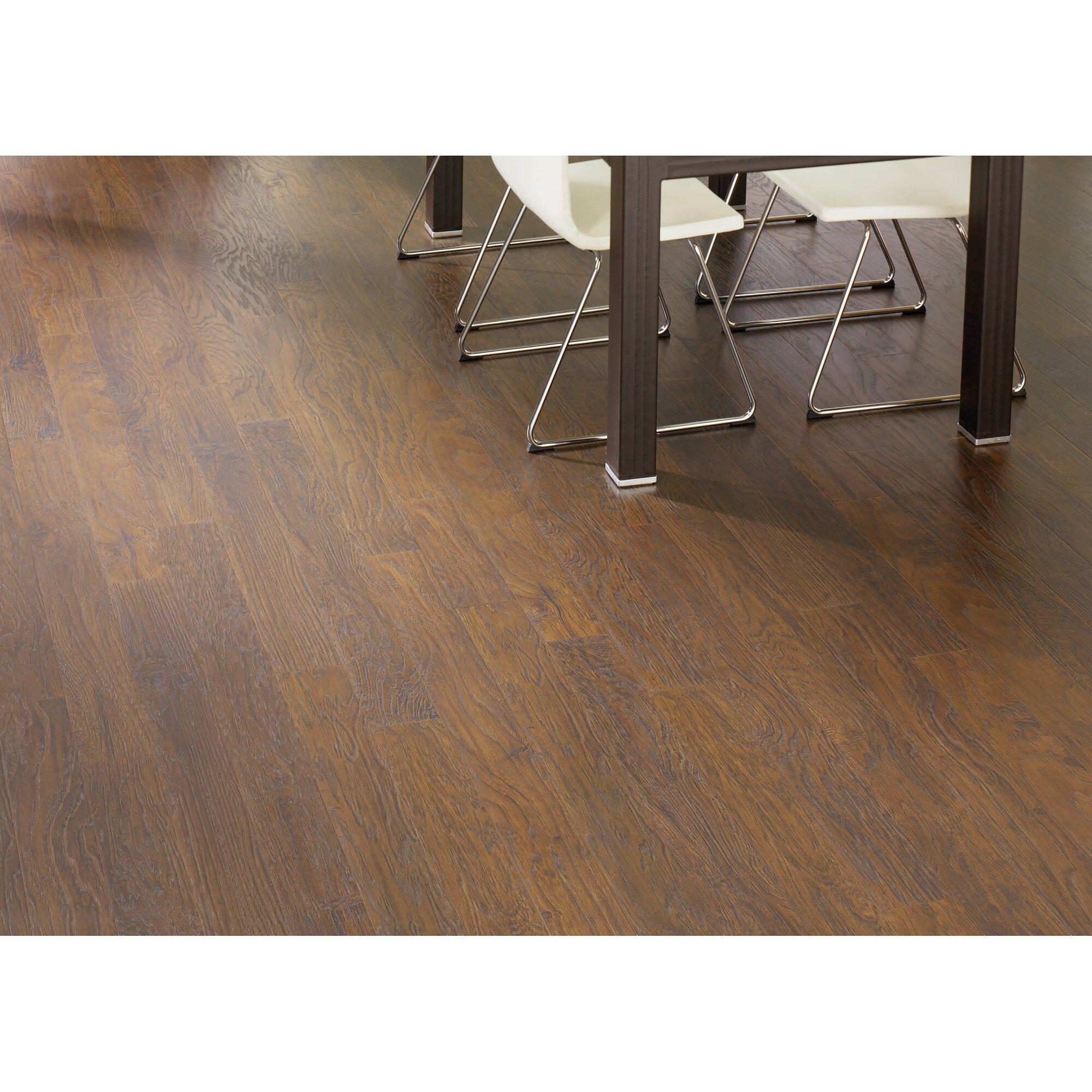Oak Laminate Flooring allen roth 496 in w x 423 ft l lodge oak handscraped wood Barfield 5 X 47 X 8mm Oak Laminate In Barnwood Oak
