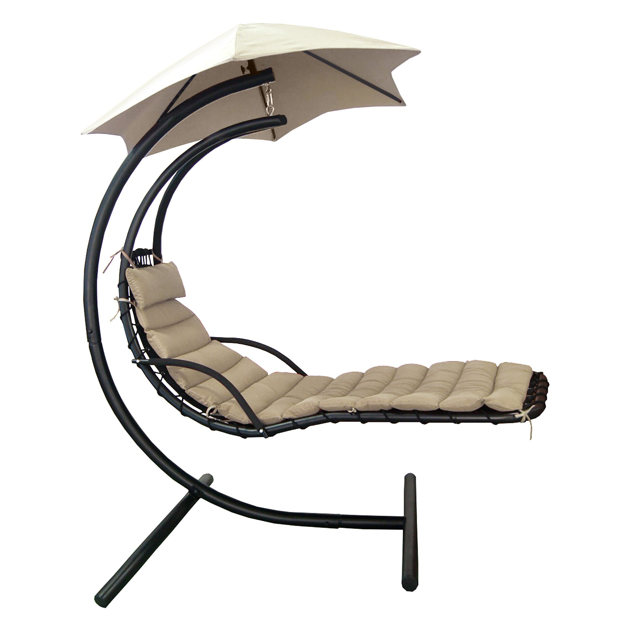 Island Umbrella Retreat Hanging Lounge Chair with Cushion