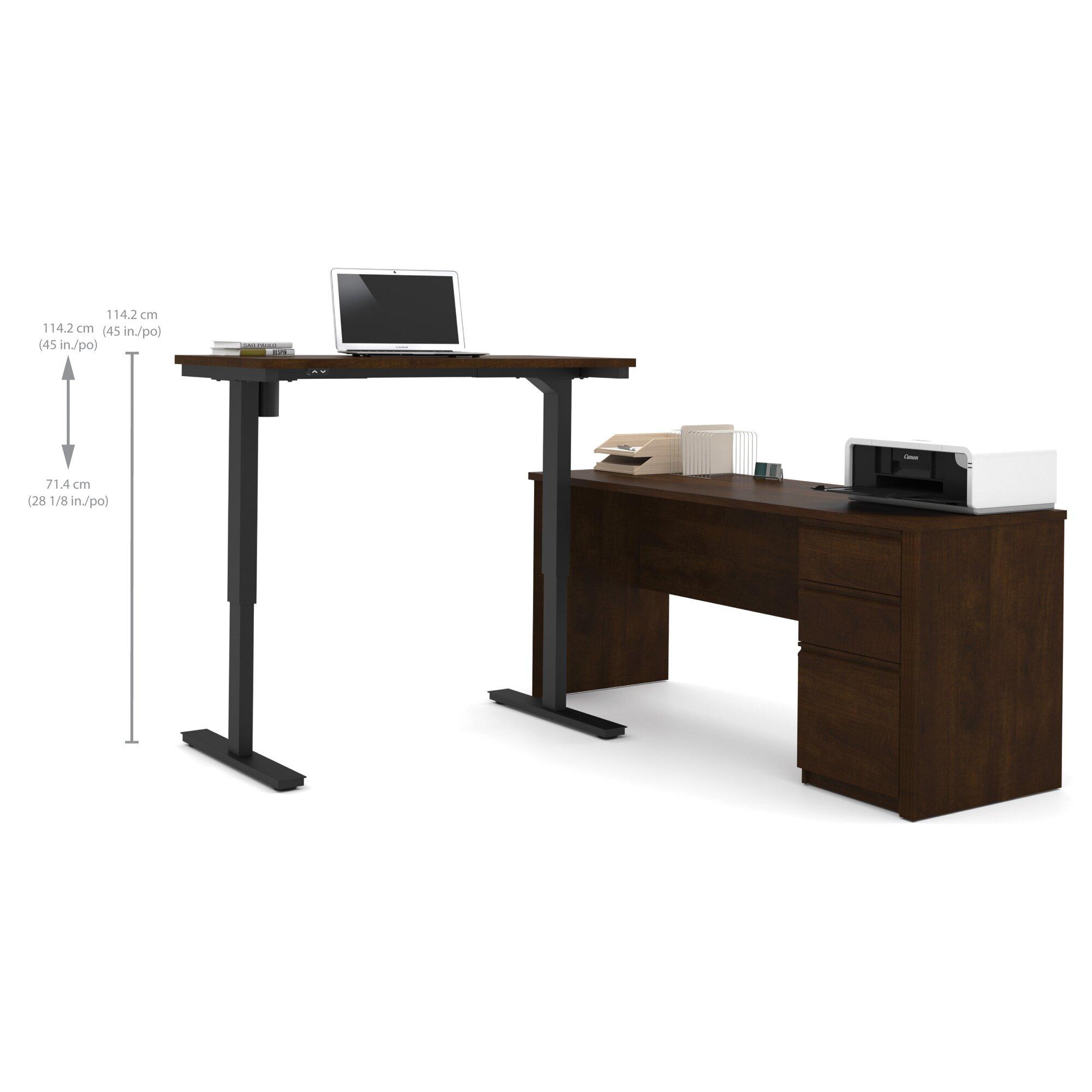 L Shaped Standing Desk Shop Uplift 950 Height Adjustable
