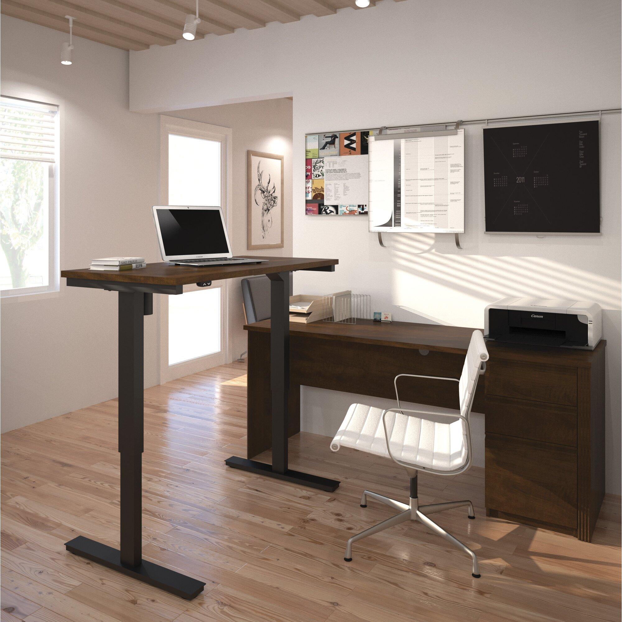 Red Barrel Studio Bormann L-Shape Standing Desk With