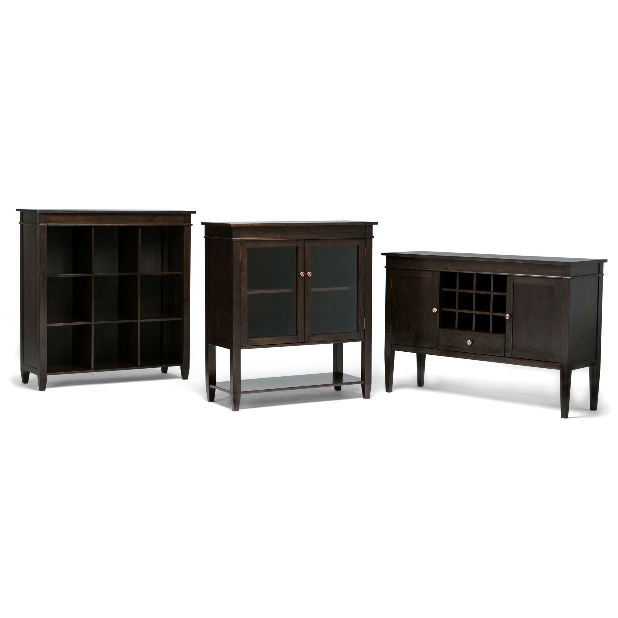 Simpli Home Carlton Storage Media Cabinet and Server & Reviews ...