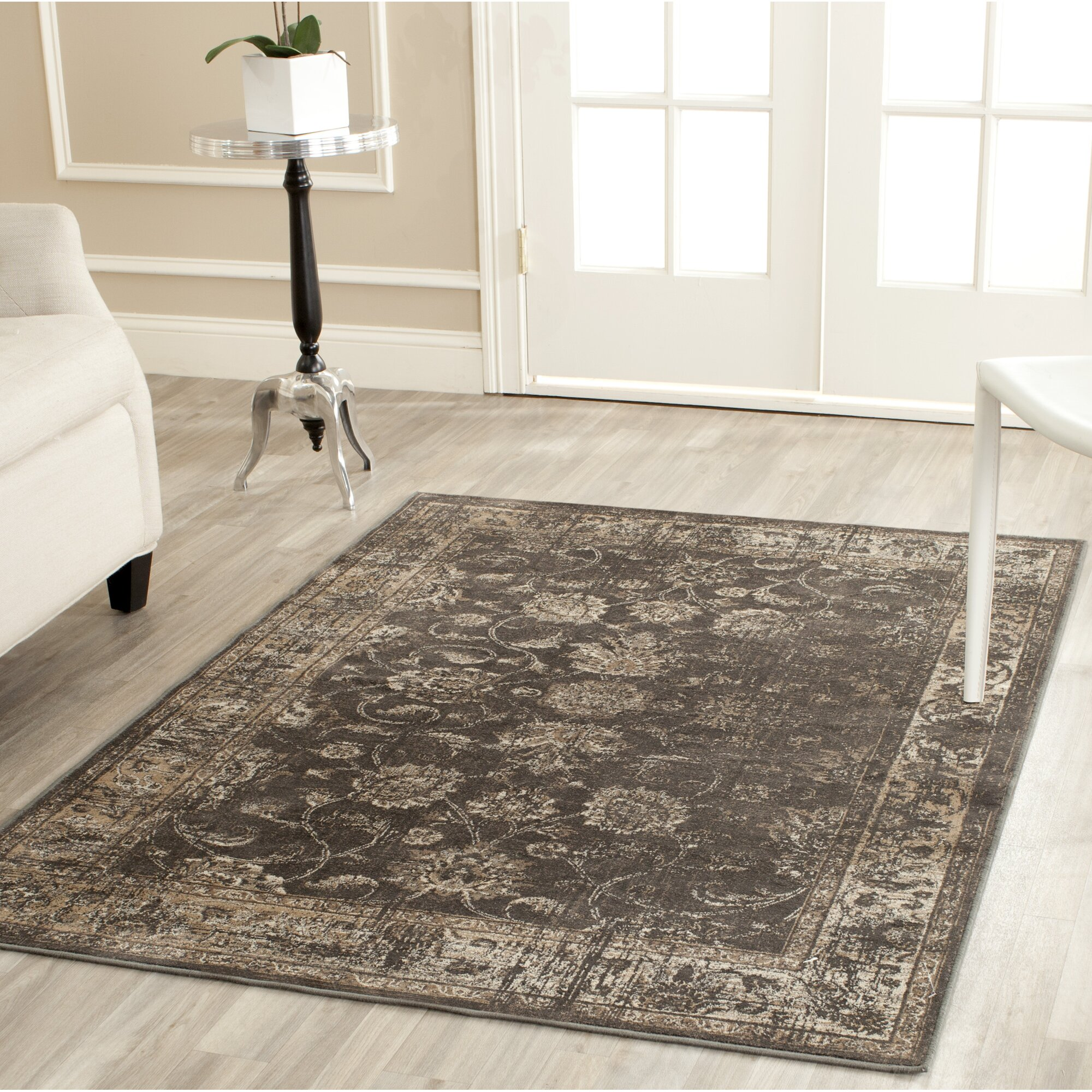 Charlton home rindge soft anthracite area rug reviews for Soft area rugs