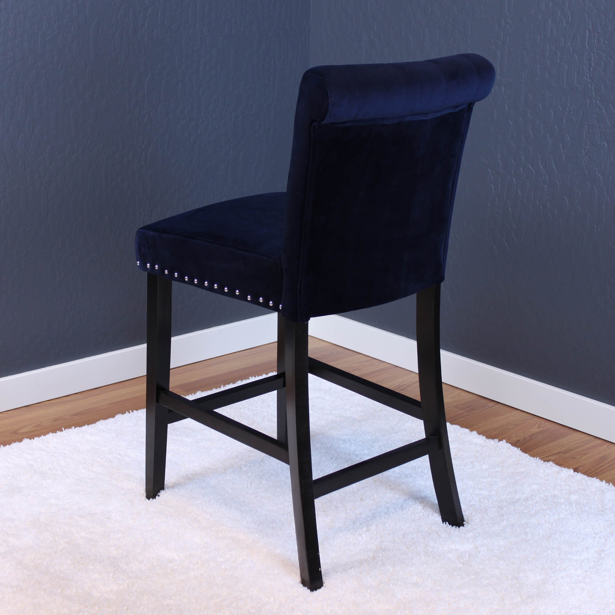 House of Hampton Coldale Velvet Counter 26quot Bar Stool with  : ColdaleVelvetCounter2622BarStoolwithCushion from www.wayfair.ca size 2000 x 2000 jpeg 323kB