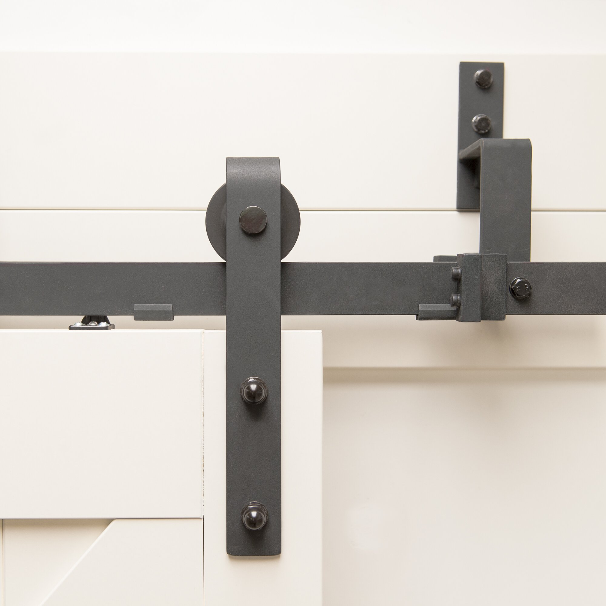 easy clip soft close barn door hardware kit - Erias Home Designs