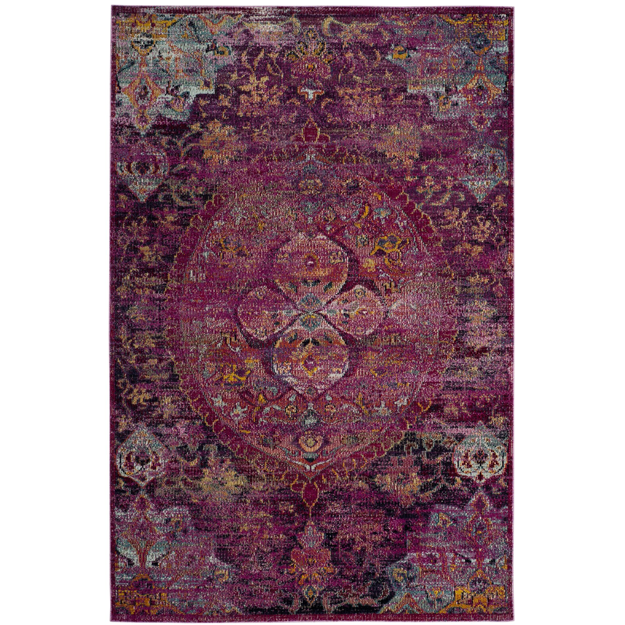 Purple Rug: Bungalow Rose Oscar Fuchsia/Purple Area Rug & Reviews