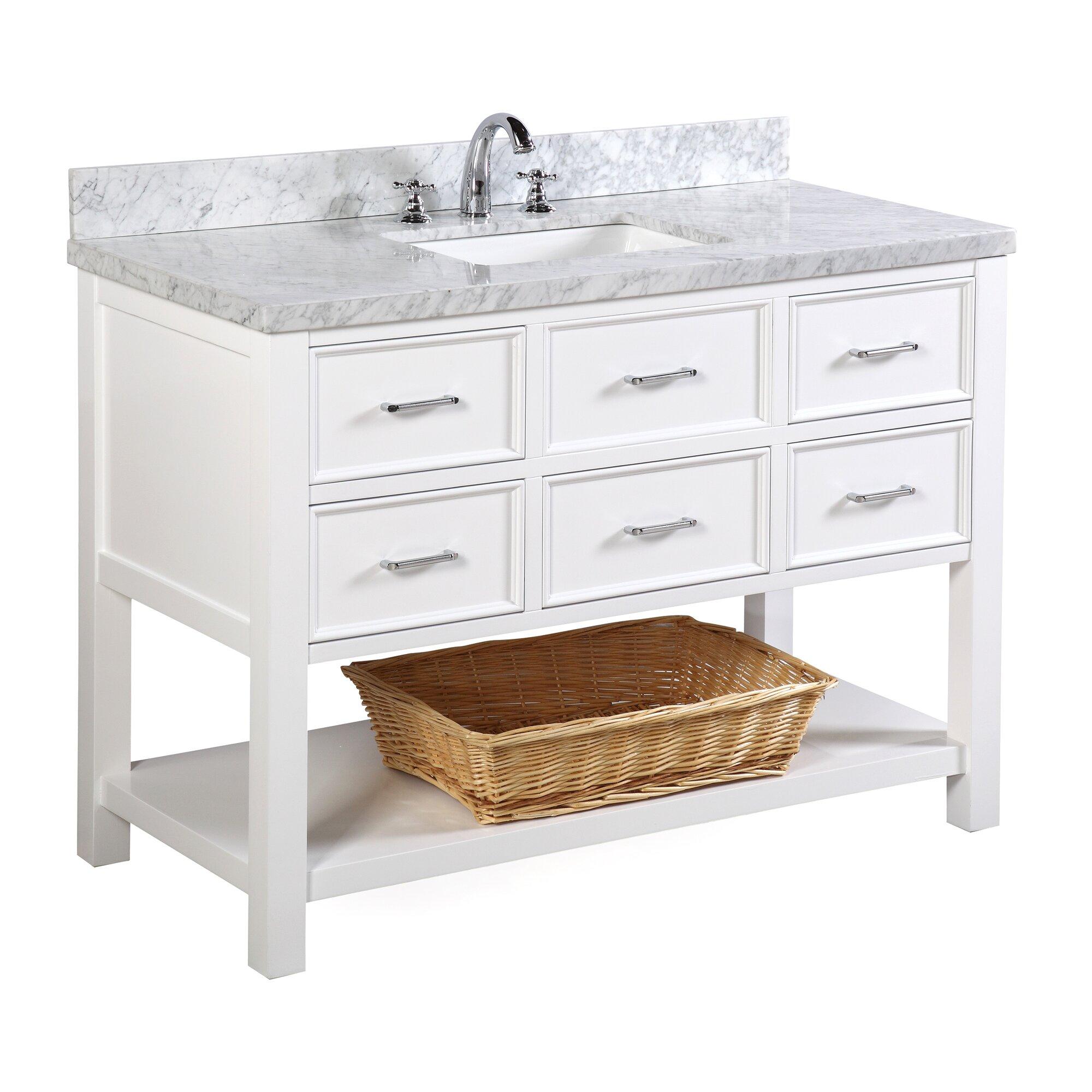 kbc new hampshire 48 single bathroom vanity set reviews wayfair