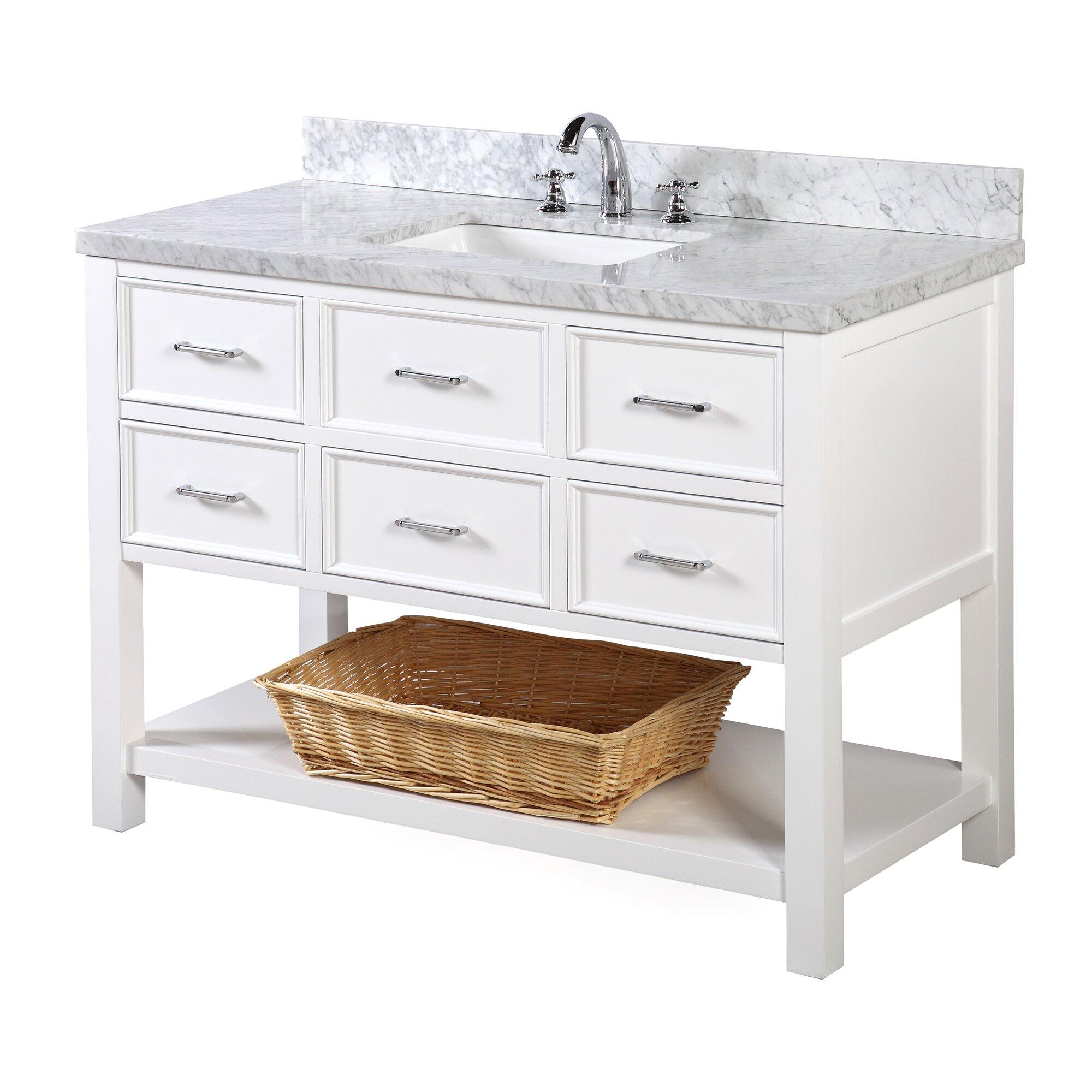 New Hshire 48 Single Bathroom Vanity Set