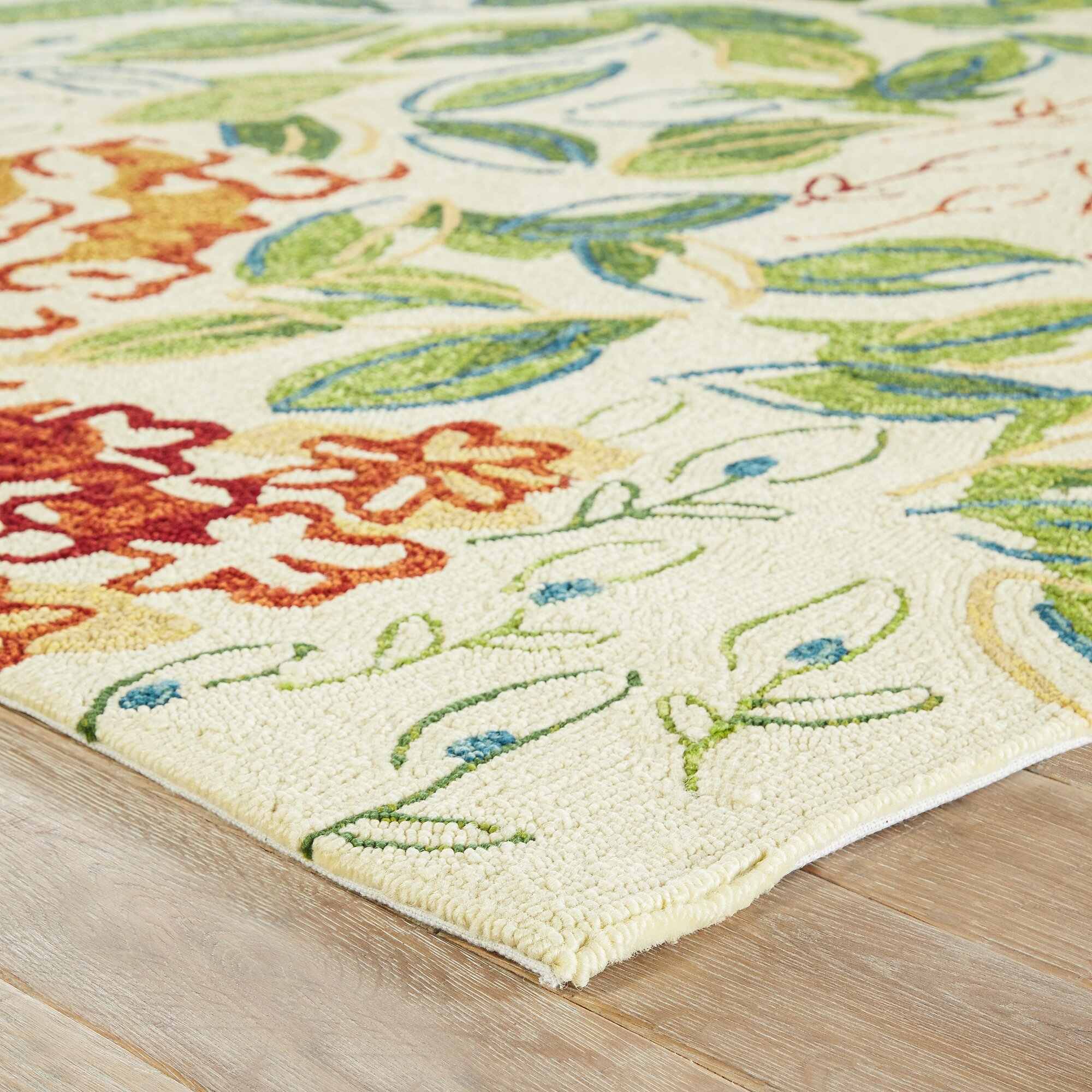 Red green indoor outdoor area rug reviews birch lane for Indoor outdoor carpet green