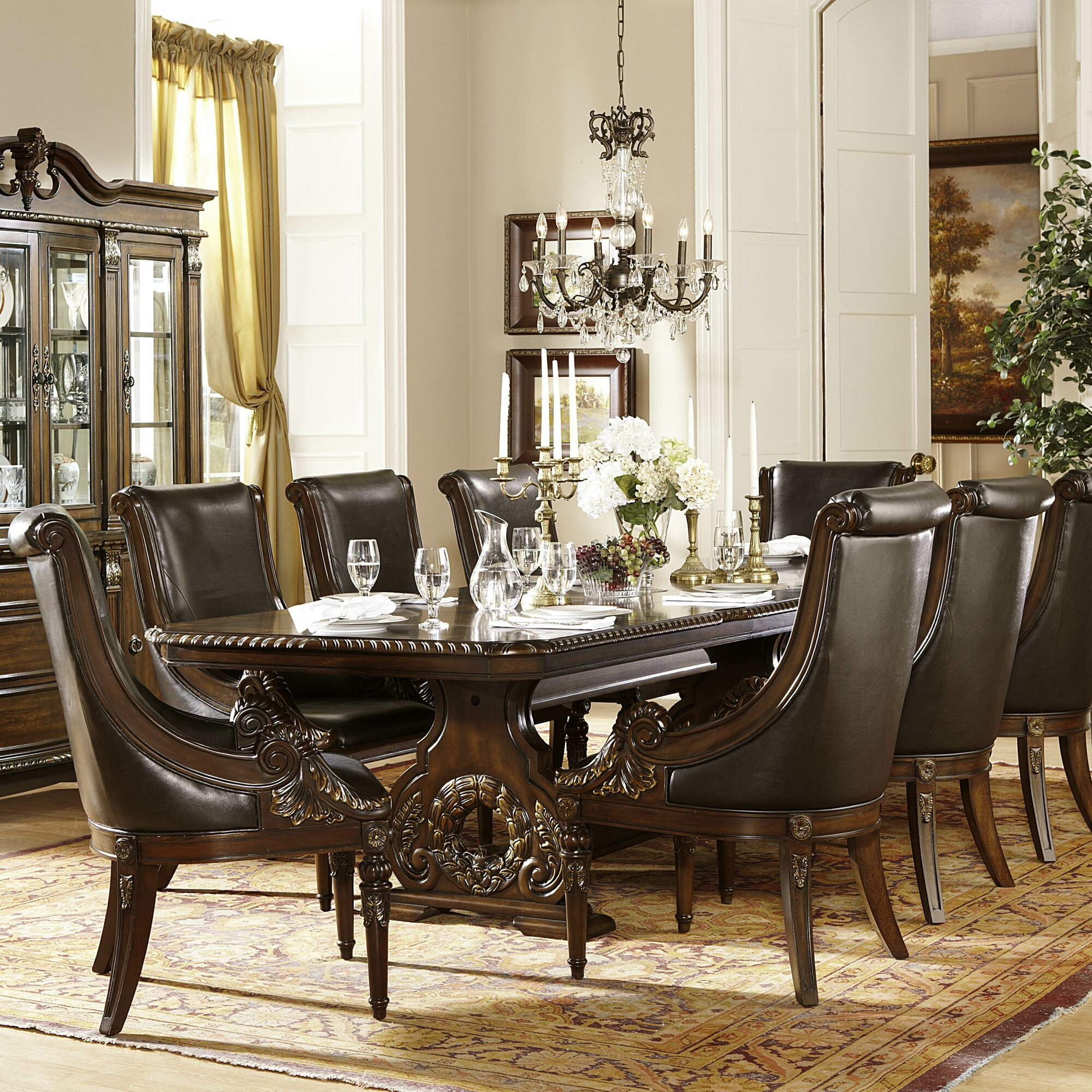 Astoria Grand Chirk Trestle Extendable Dining Table & Reviews ...