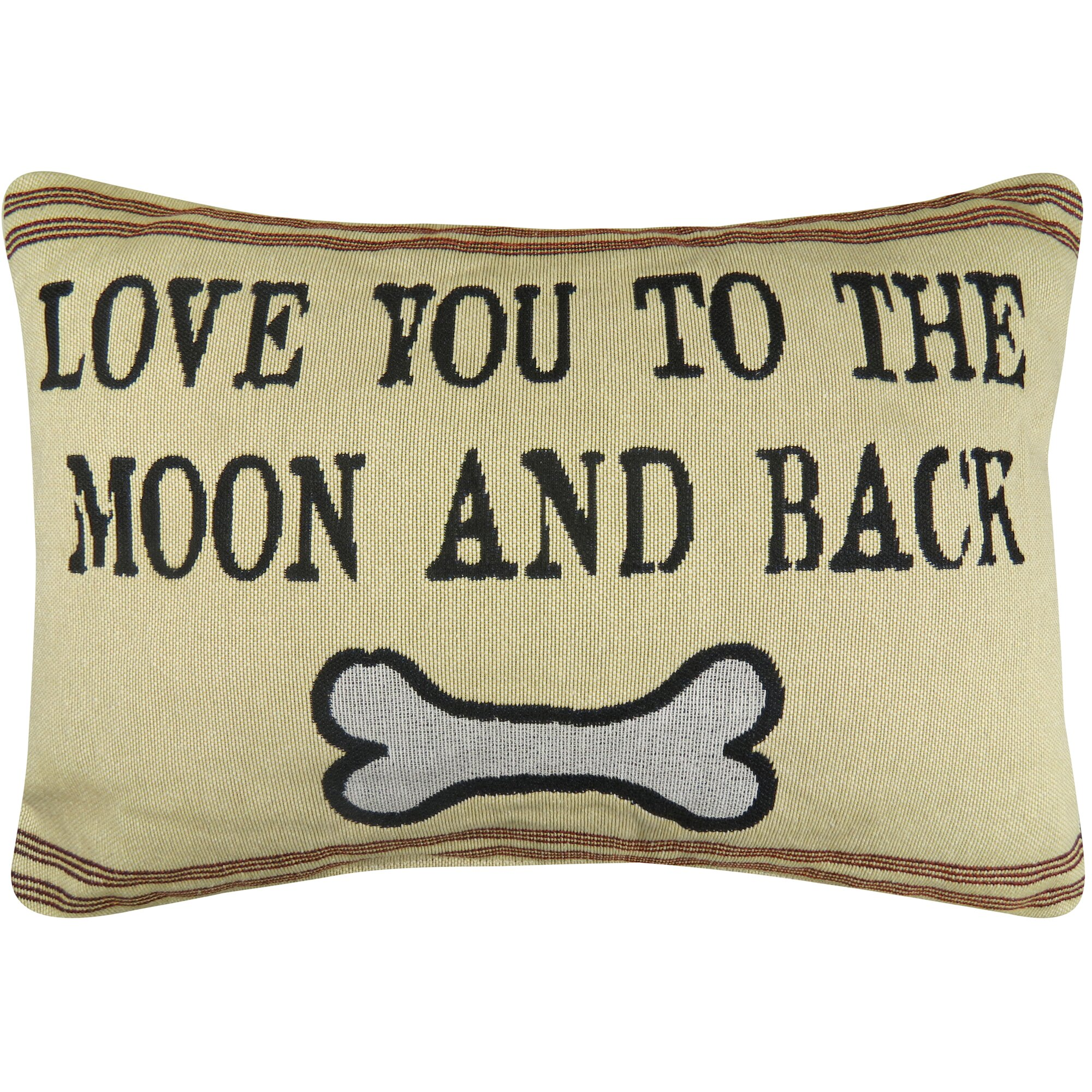pet love you to moon tapestry decorative lumbar pillow - Decorative Lumbar Pillows
