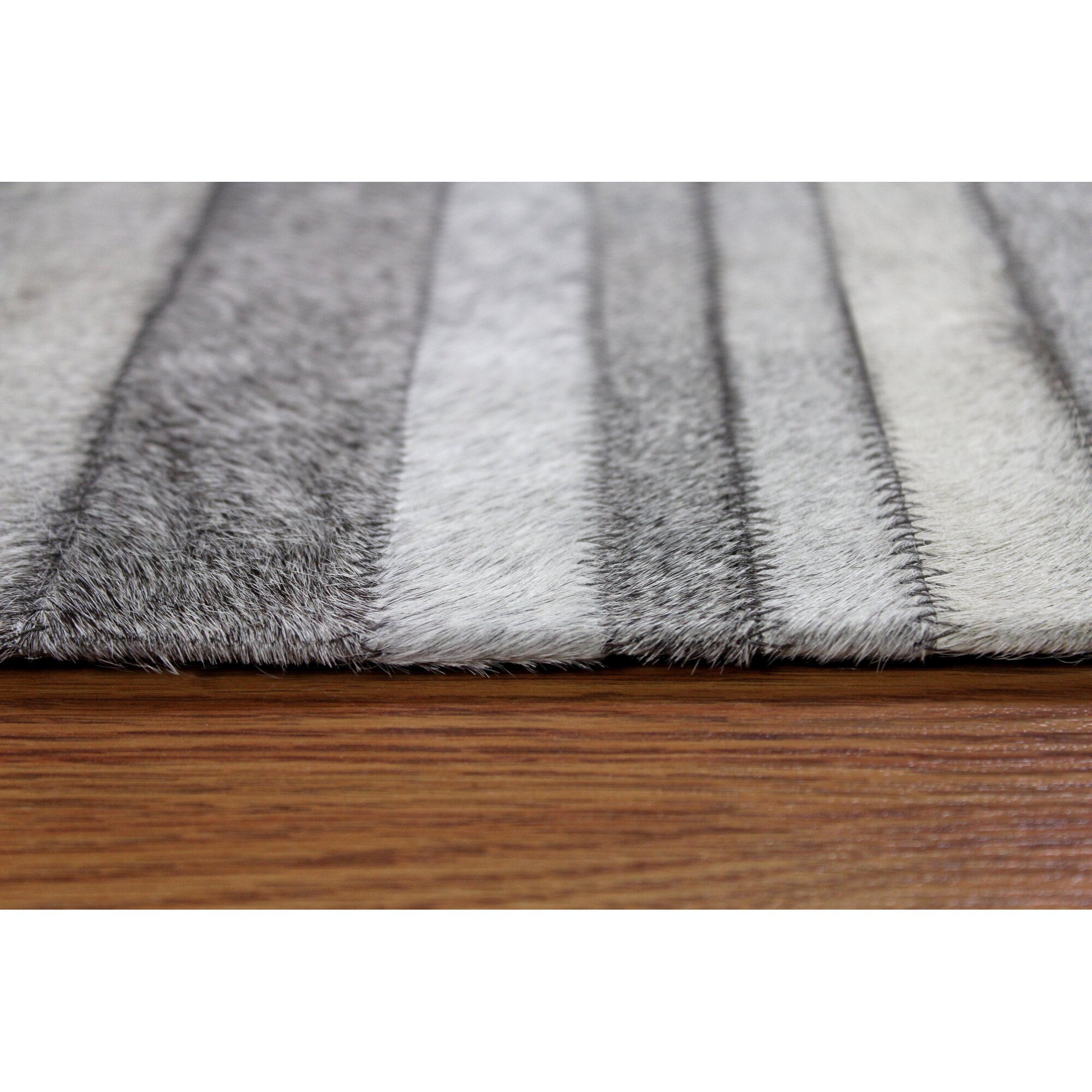MOTI Rugs Hair On Hide Grey Area Rug & Reviews