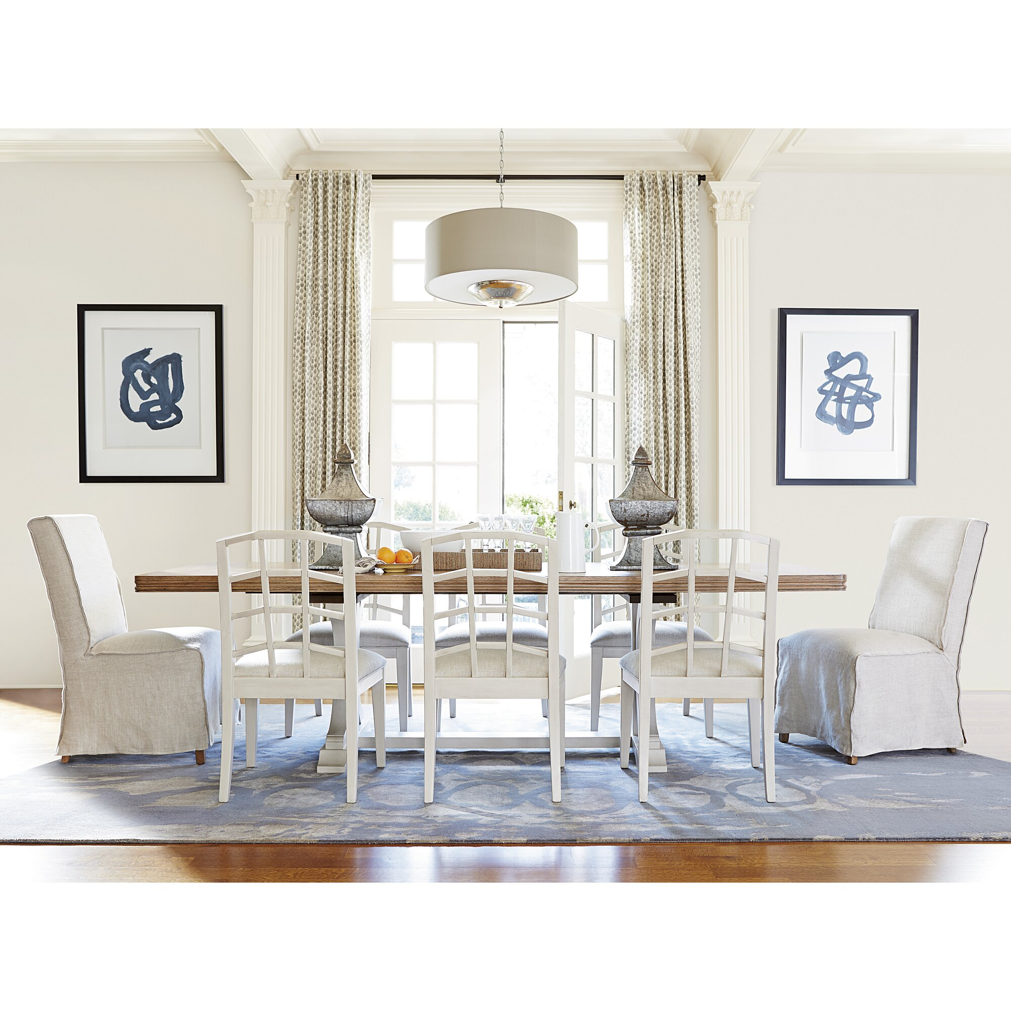 Laurel Foundry Modern Farmhouse Riverdale Extendable Dining Table