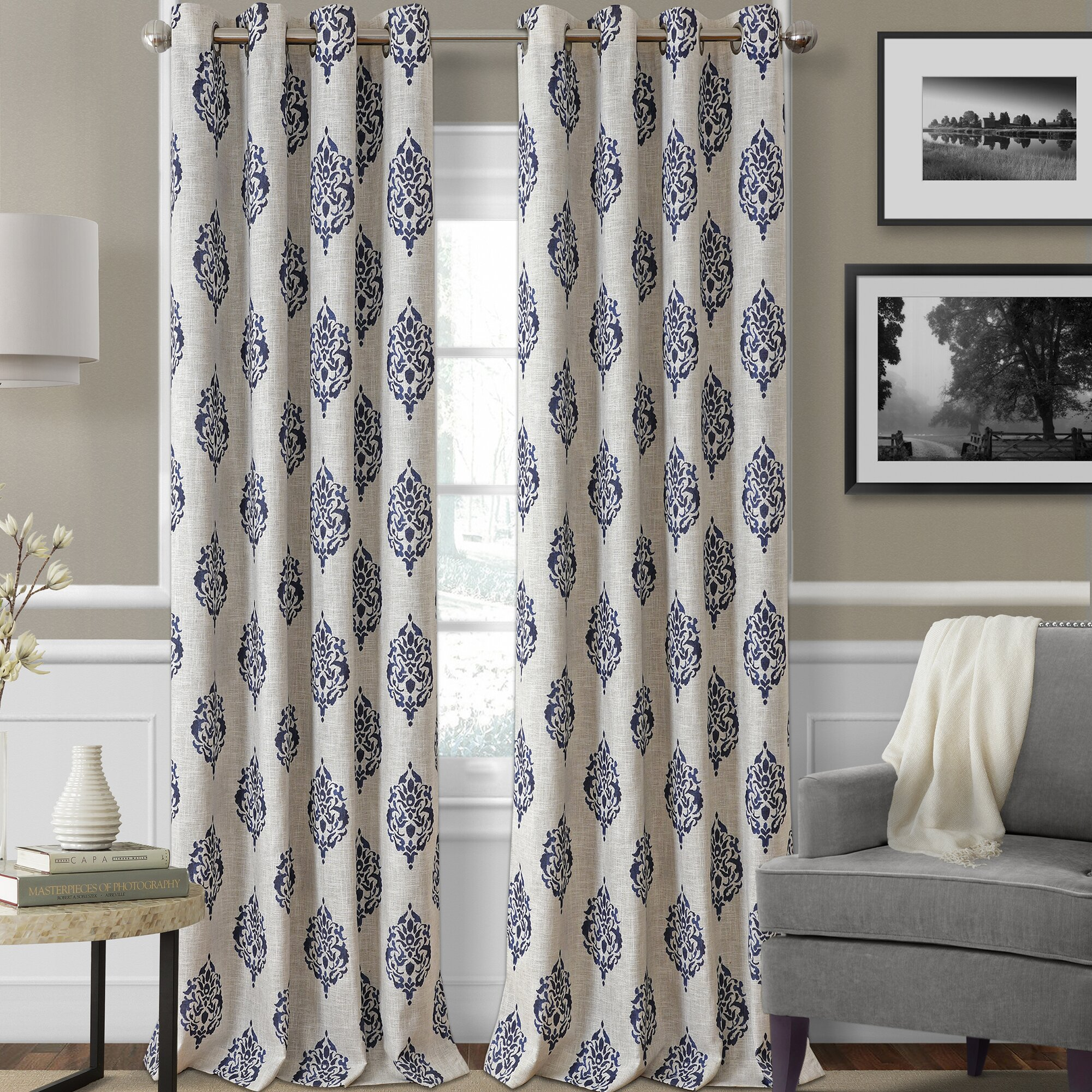 Home Design Ideas Curtains: Elrene Home Fashions Navara Ikat Blackout Thermal Grommet