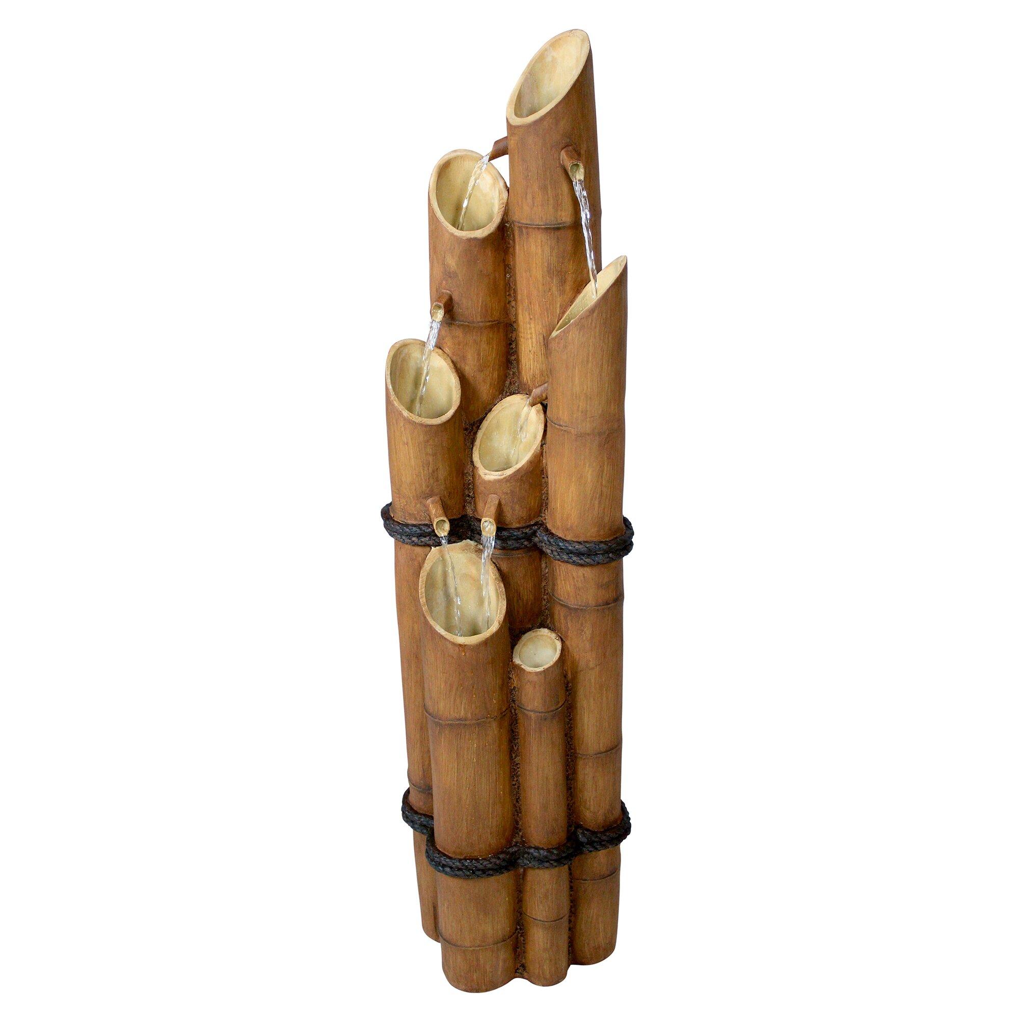 Design toscano resin bamboo sculptural fountain reviews for Decor 5 5 litre drink fountain