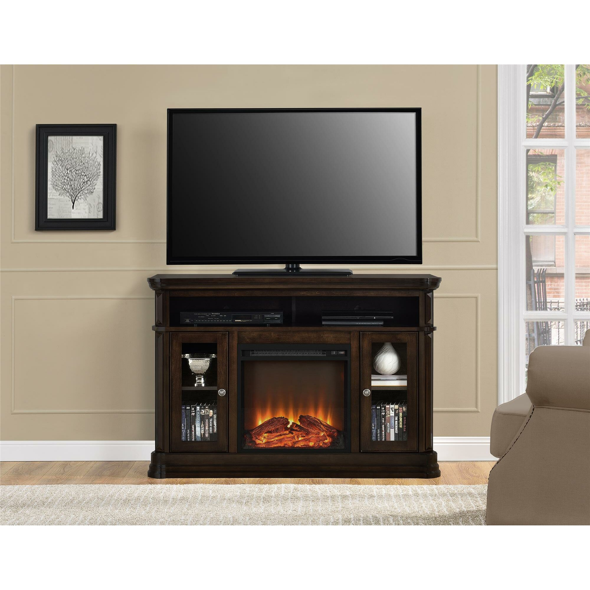 Astoria Grand Ganado 473 TV Stand with Electric Fireplace