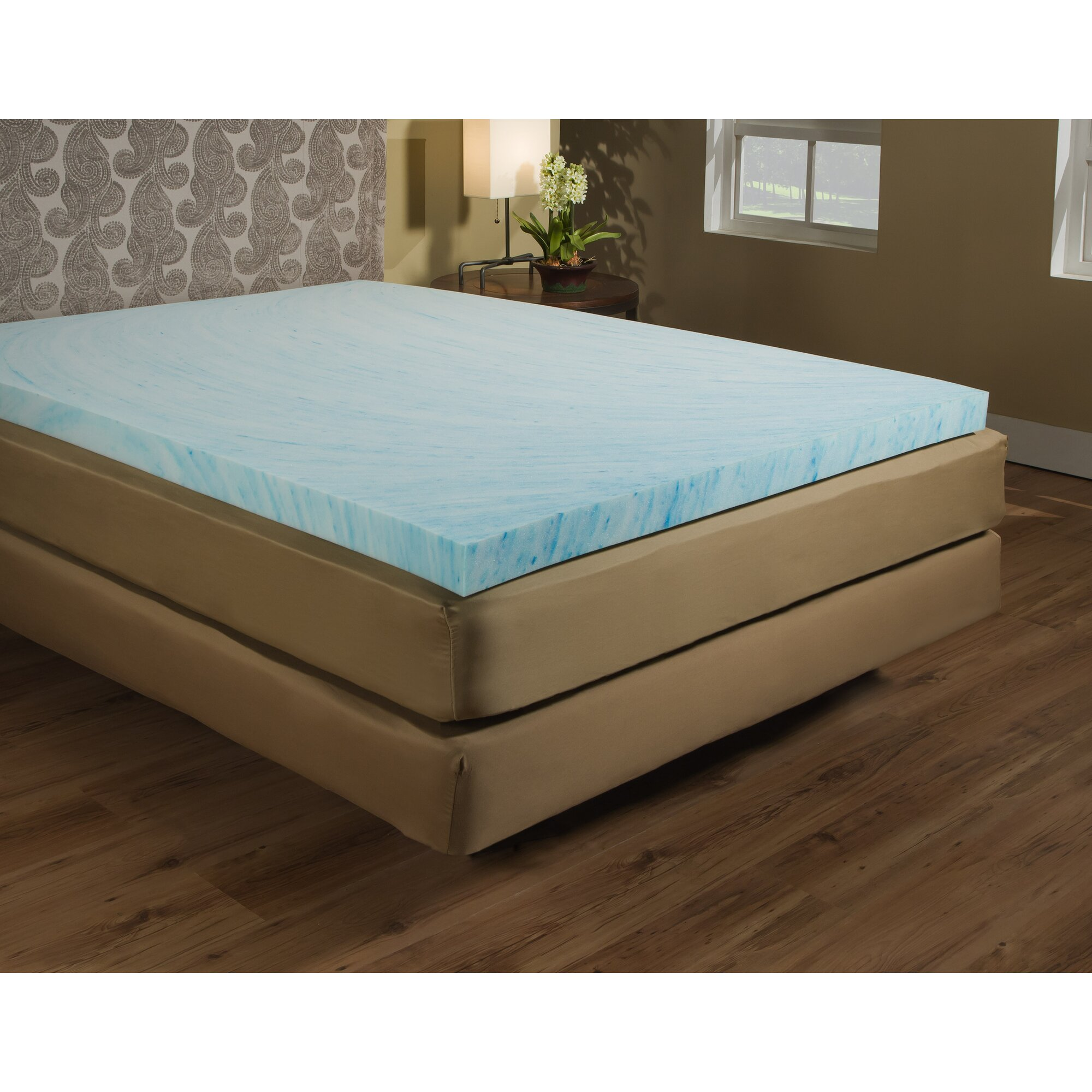 arctic sleep cooling 1 inch gel memory foam mattress pad free.