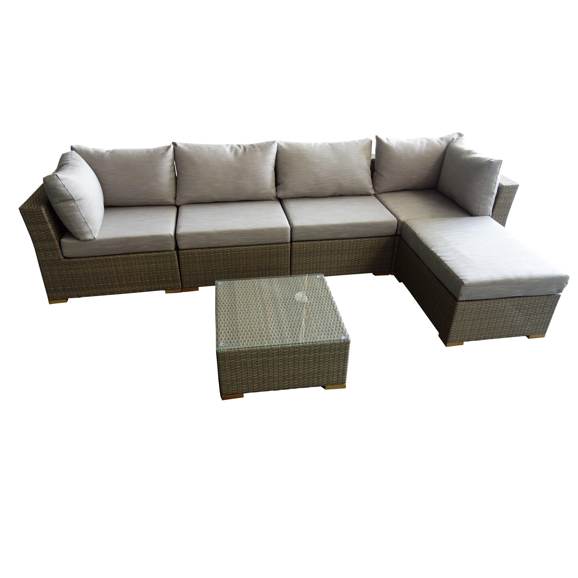 Signaturerattan maui 6 piece deep seating group with cushions wayfair ca