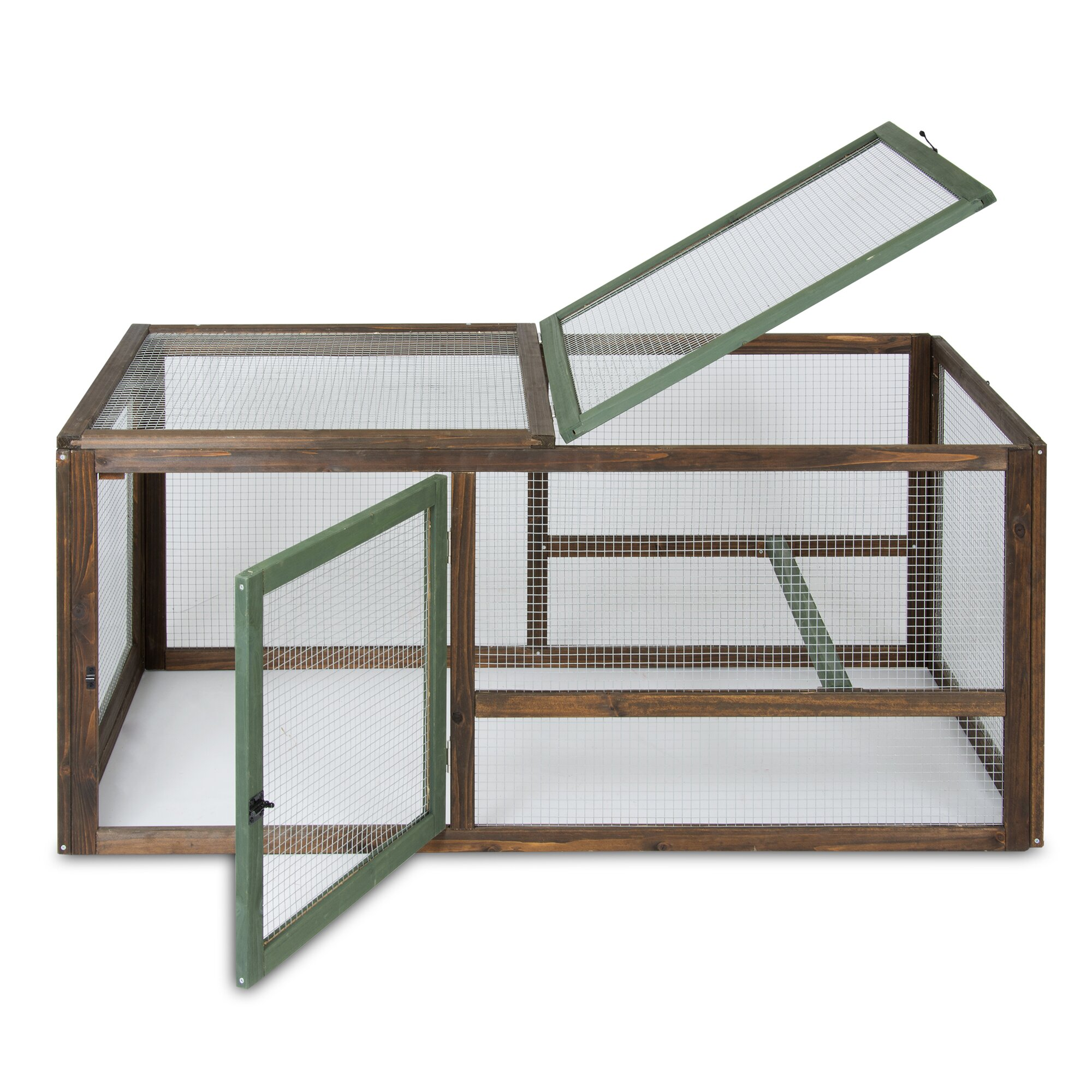Precision Pet Hen House II Chicken Run with Roosting Bar ...