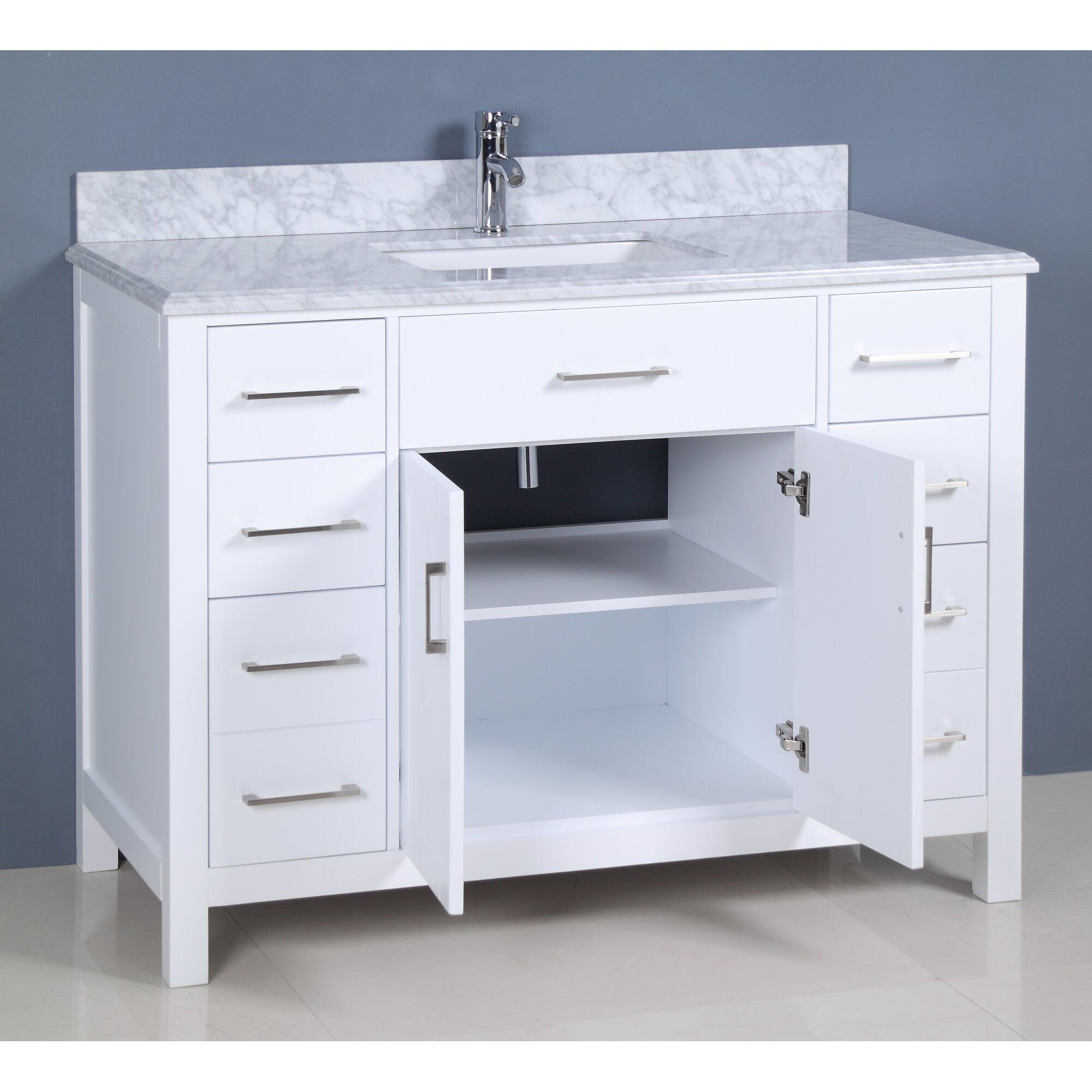 """Golden Elite Carrera 48"""" Single Bathroom Vanity Set"""