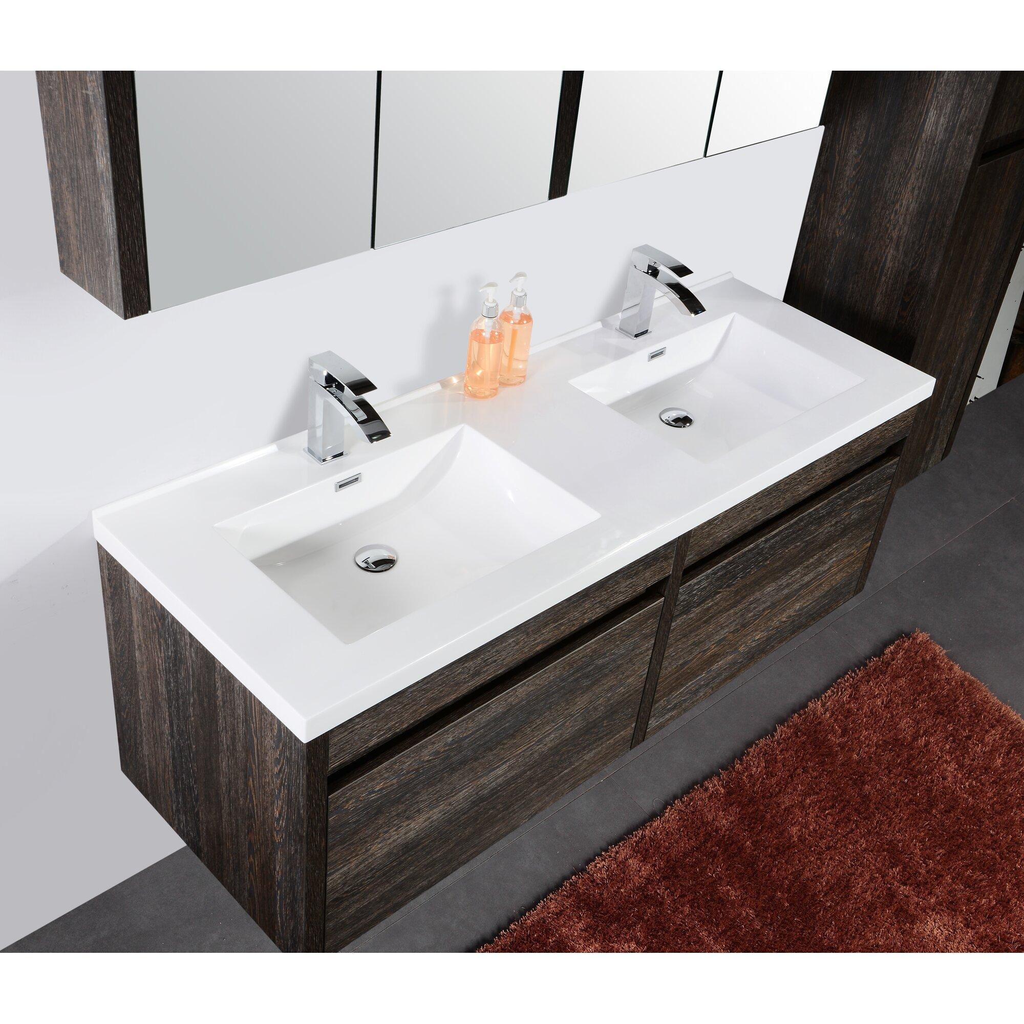 """Golden Elite Labrador 60"""" Double Bathroom Vanity Set"""